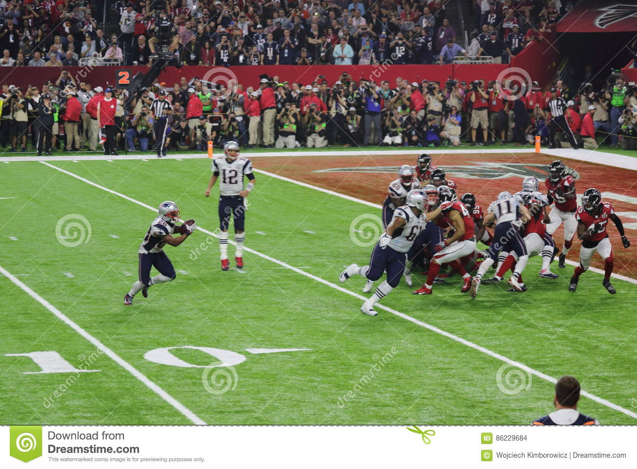 SuperBowl LI Patriots Play