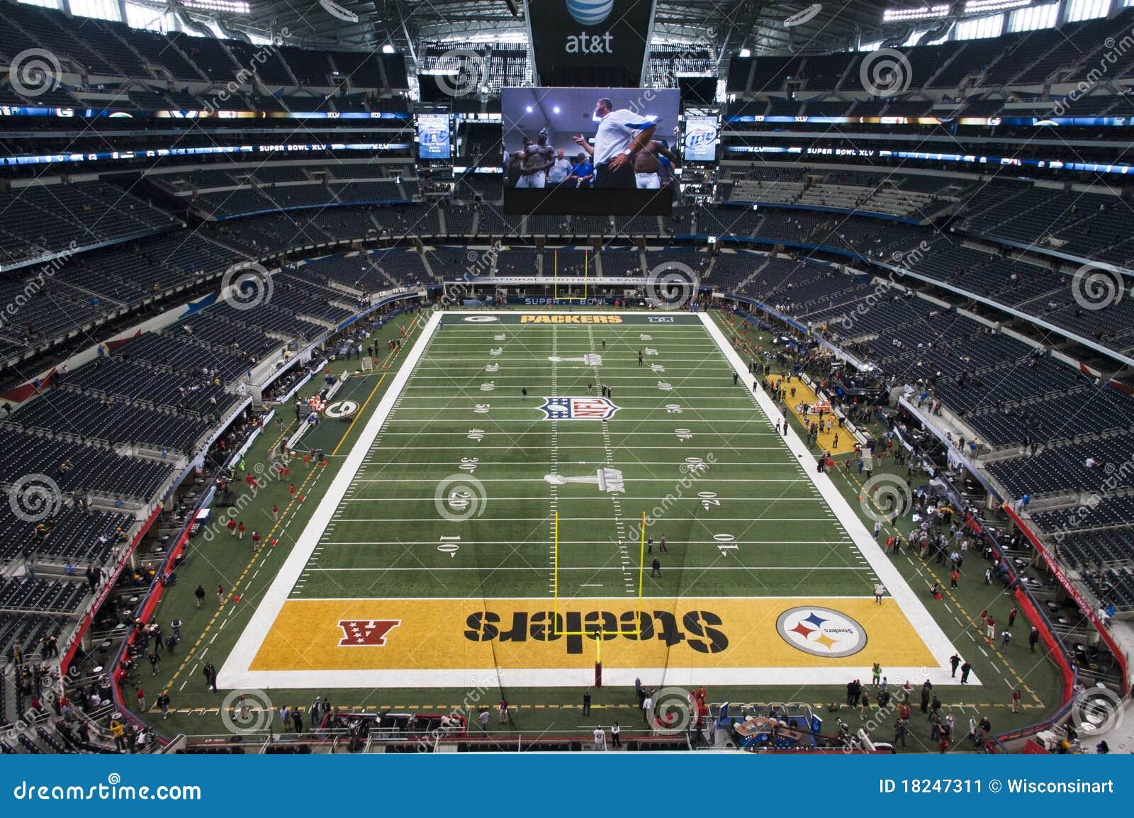 Superbowl XLV allo stadio dei cowboy a Dallas, il Texas