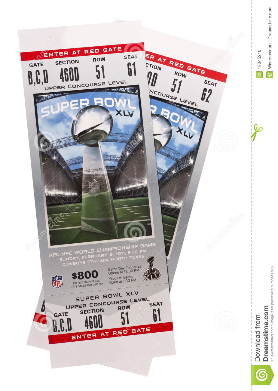 Superbowl XLV Tickets NFL American Football