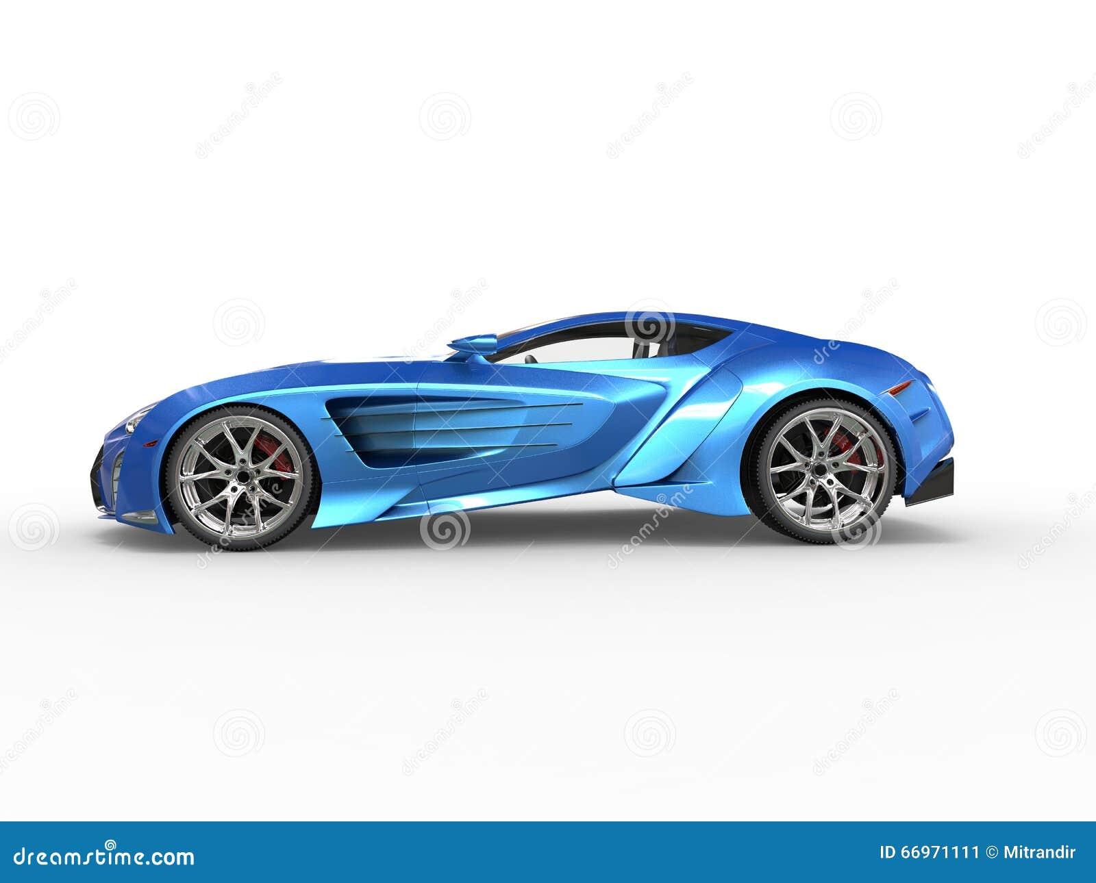 Supercar métallique bleu