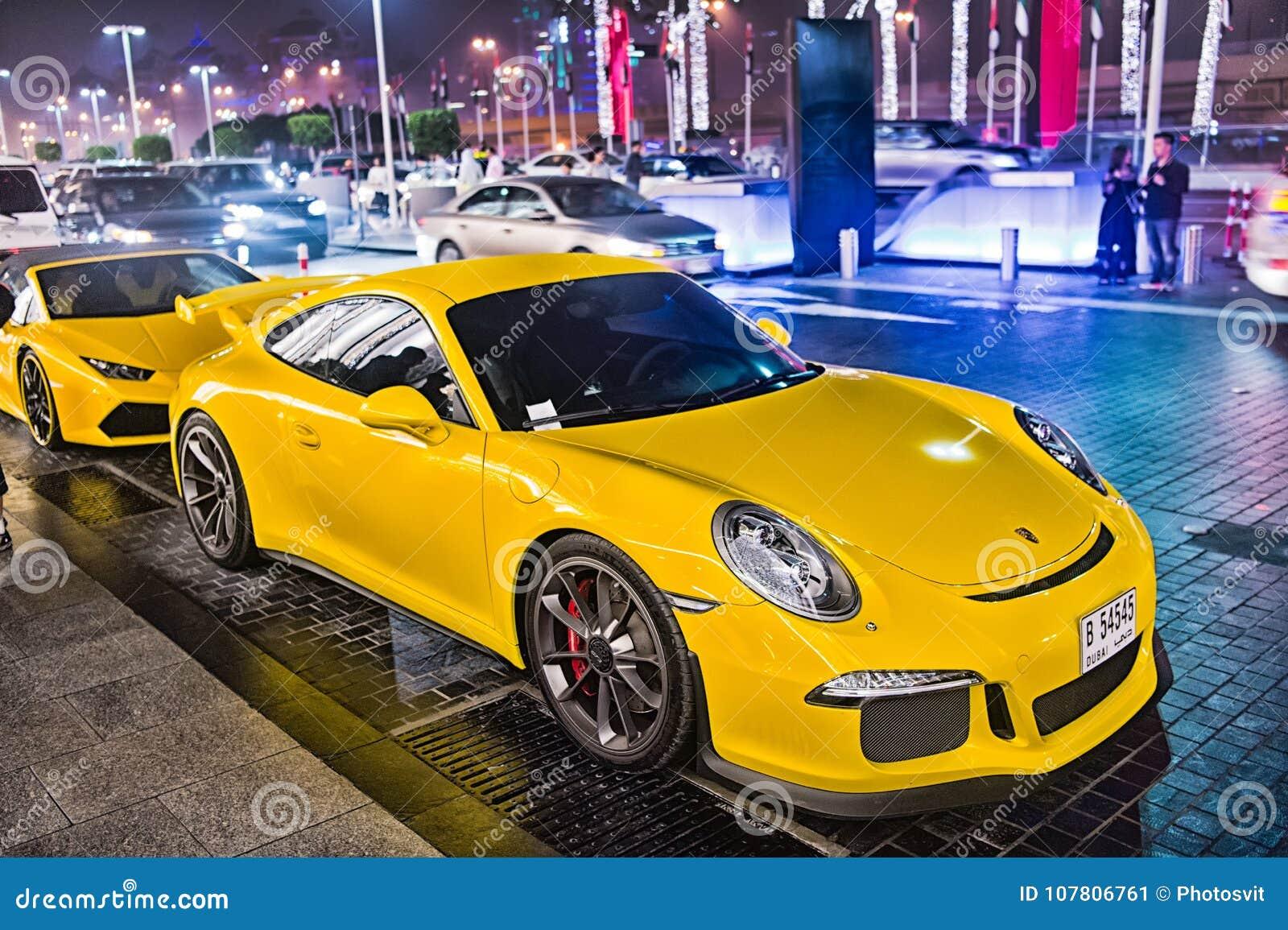 Supercar Porsche 911 Carrera 4 Gts Huricane Yellow Color
