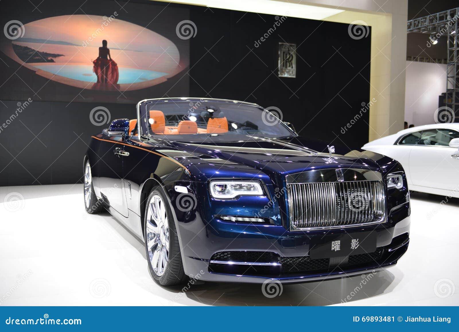 Supercarro do convertible do alvorecer de Rolls royce