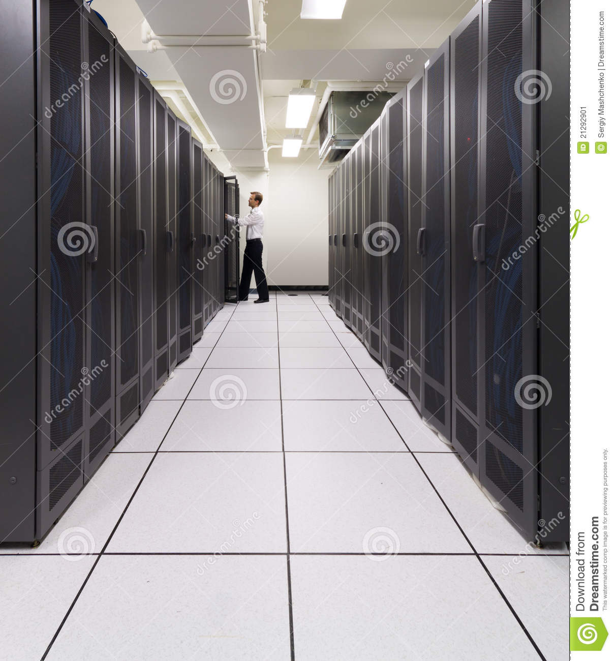 Supercomputer in action