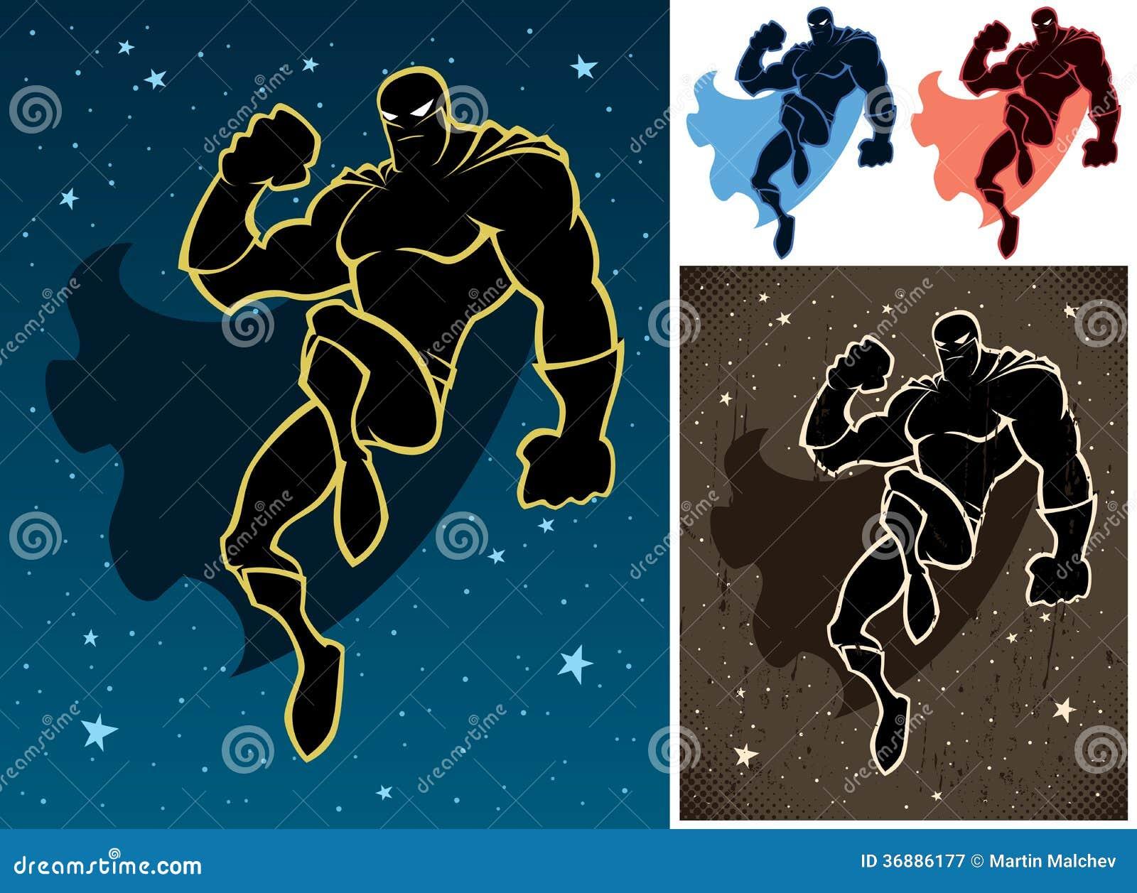 Download Supereroe nel cielo illustrazione vettoriale. Illustrazione di movimento - 36886177