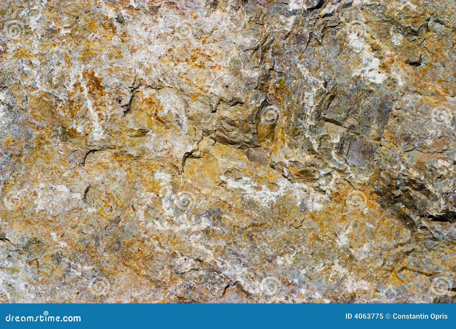 Superfície áspera da rocha