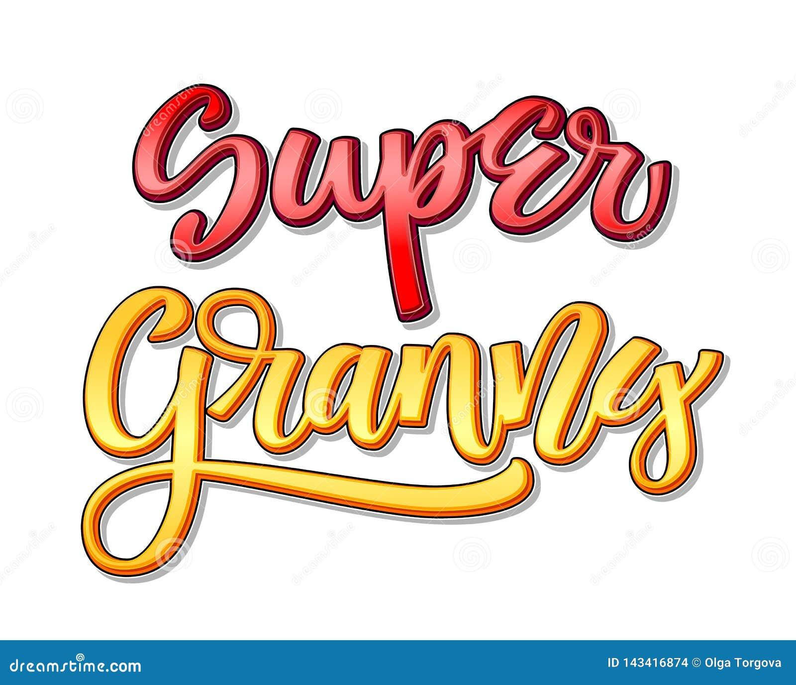 Superfamilientext - Superomafarbkalligraphie