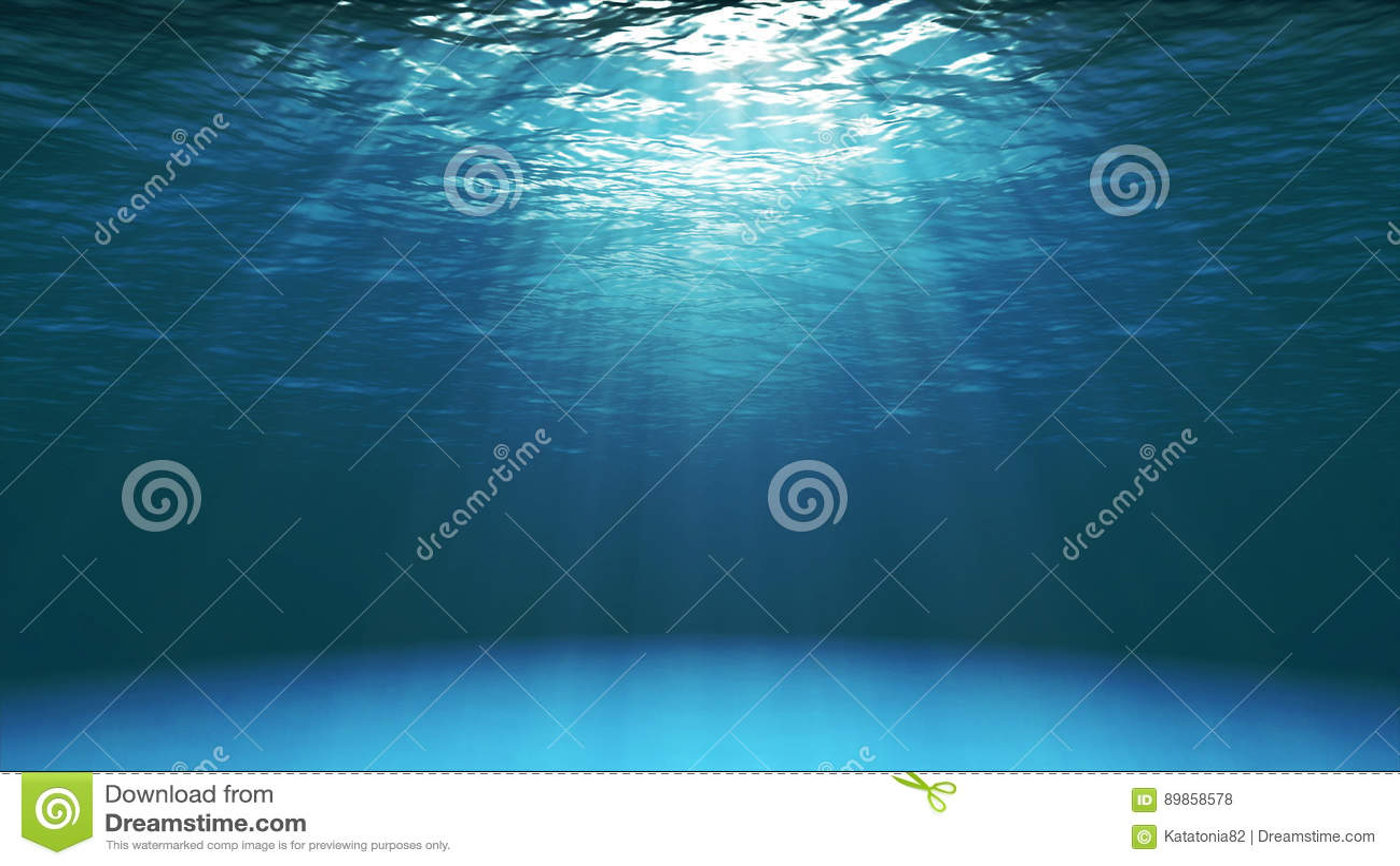 Superficie blu scuro dell oceano veduta da underwater