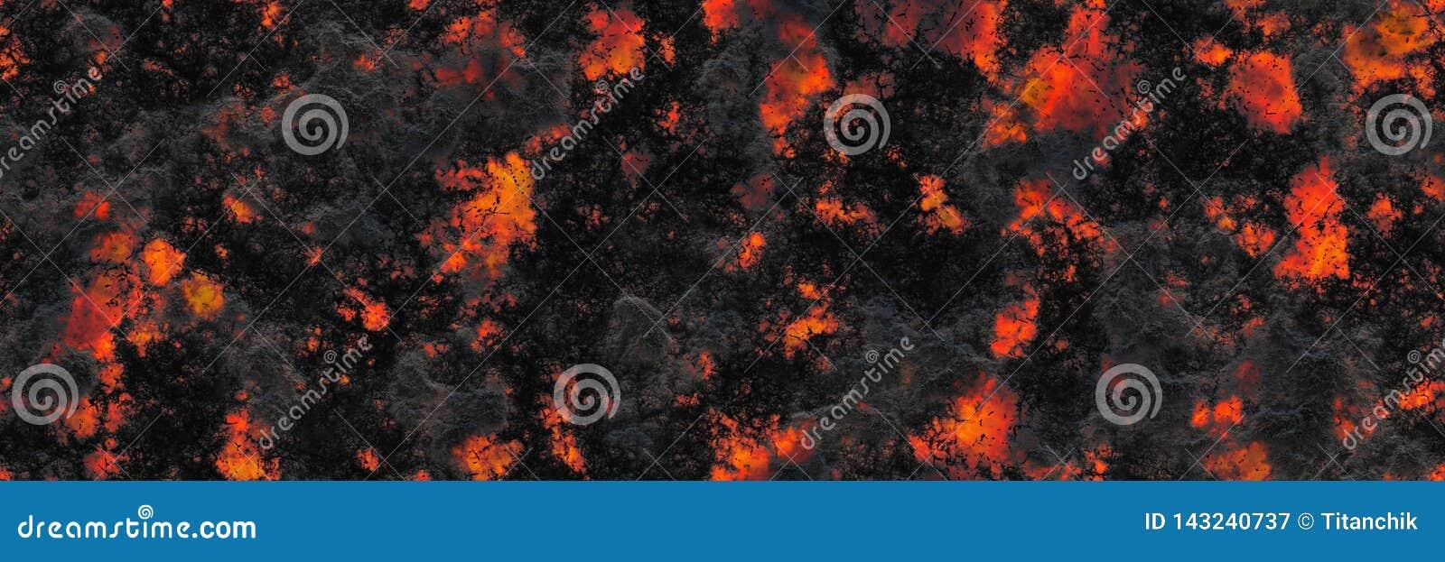 Superficie d ardore bruciata del carbone dei carboni Modello astratto della natura