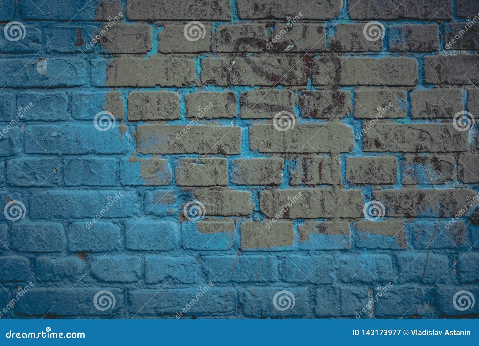 Superficie de la pared de ladrillo en tono de los azules marinos Fondo y textura arquitect?nicos abstractos para el dise?o