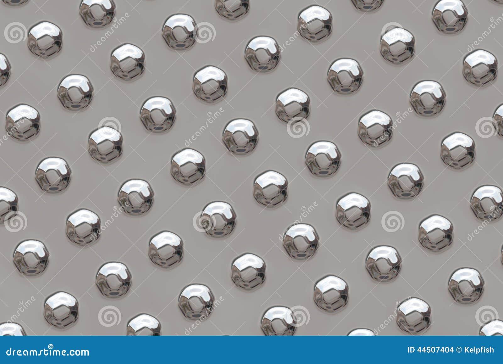 Superficie de metal con los remaches
