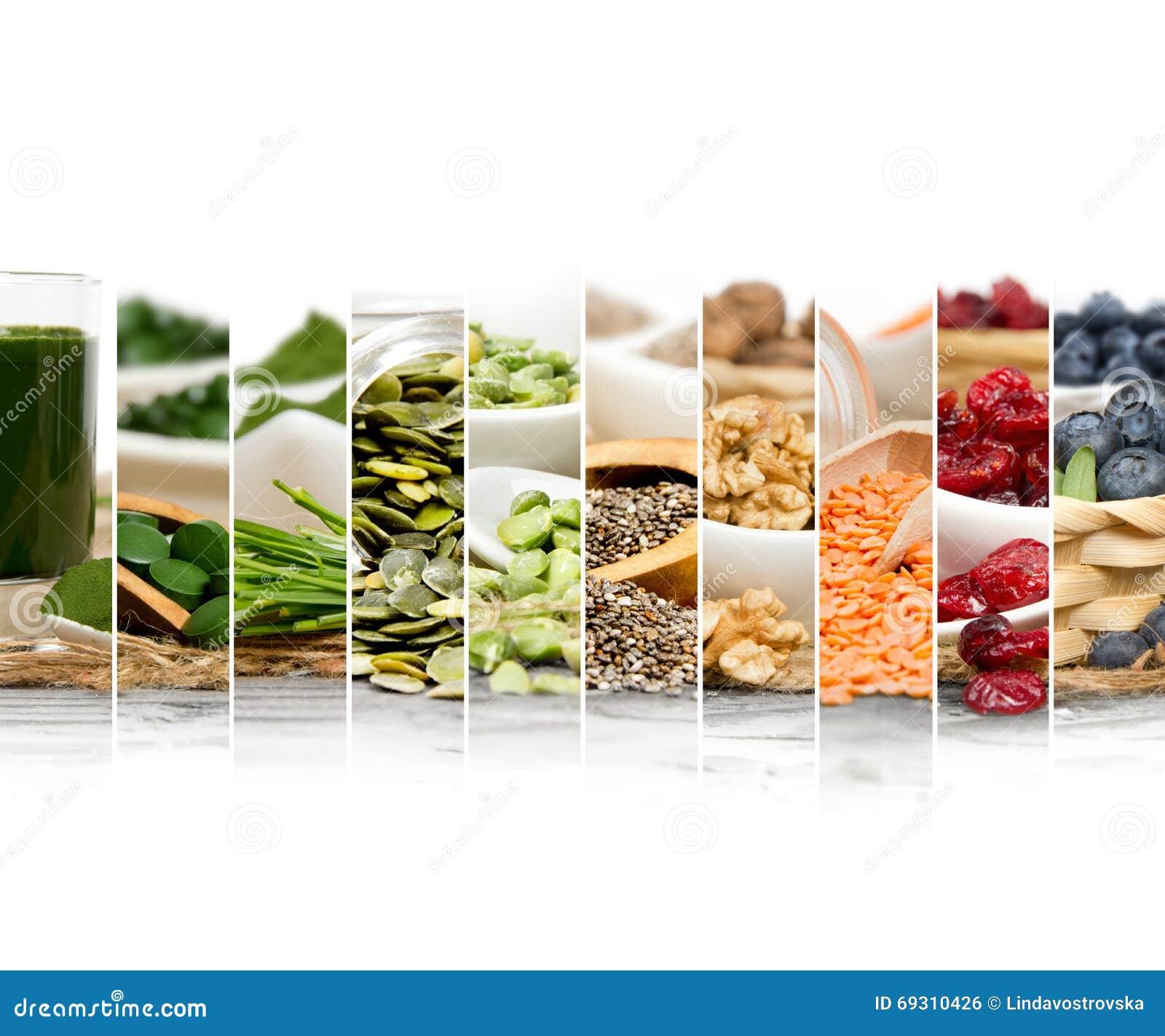 Superfood mieszanki plasterki