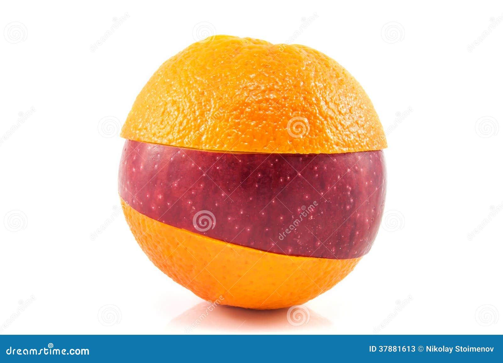 Superfruit - rode appel en sinaasappel