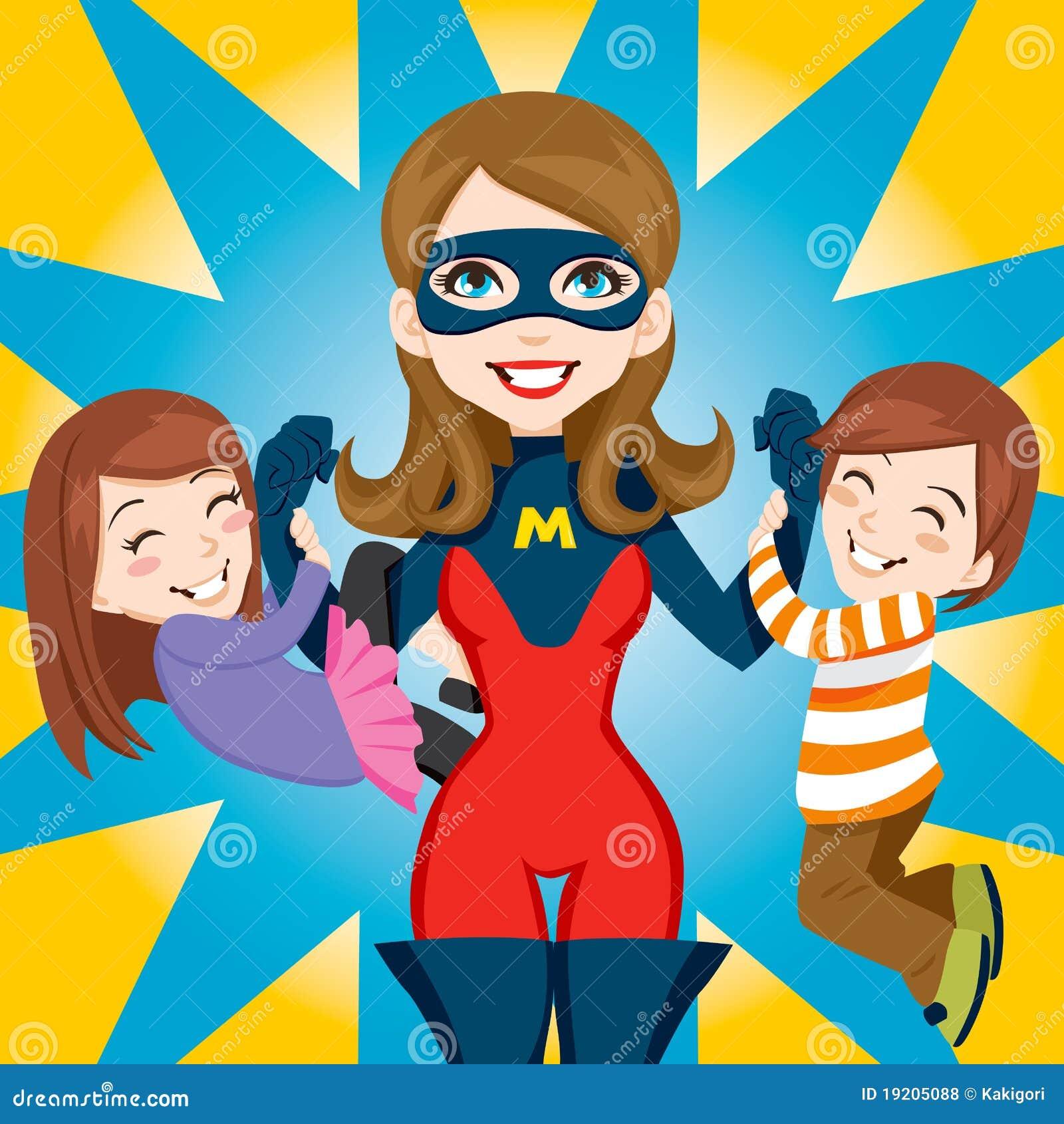 Superheld-Mamma