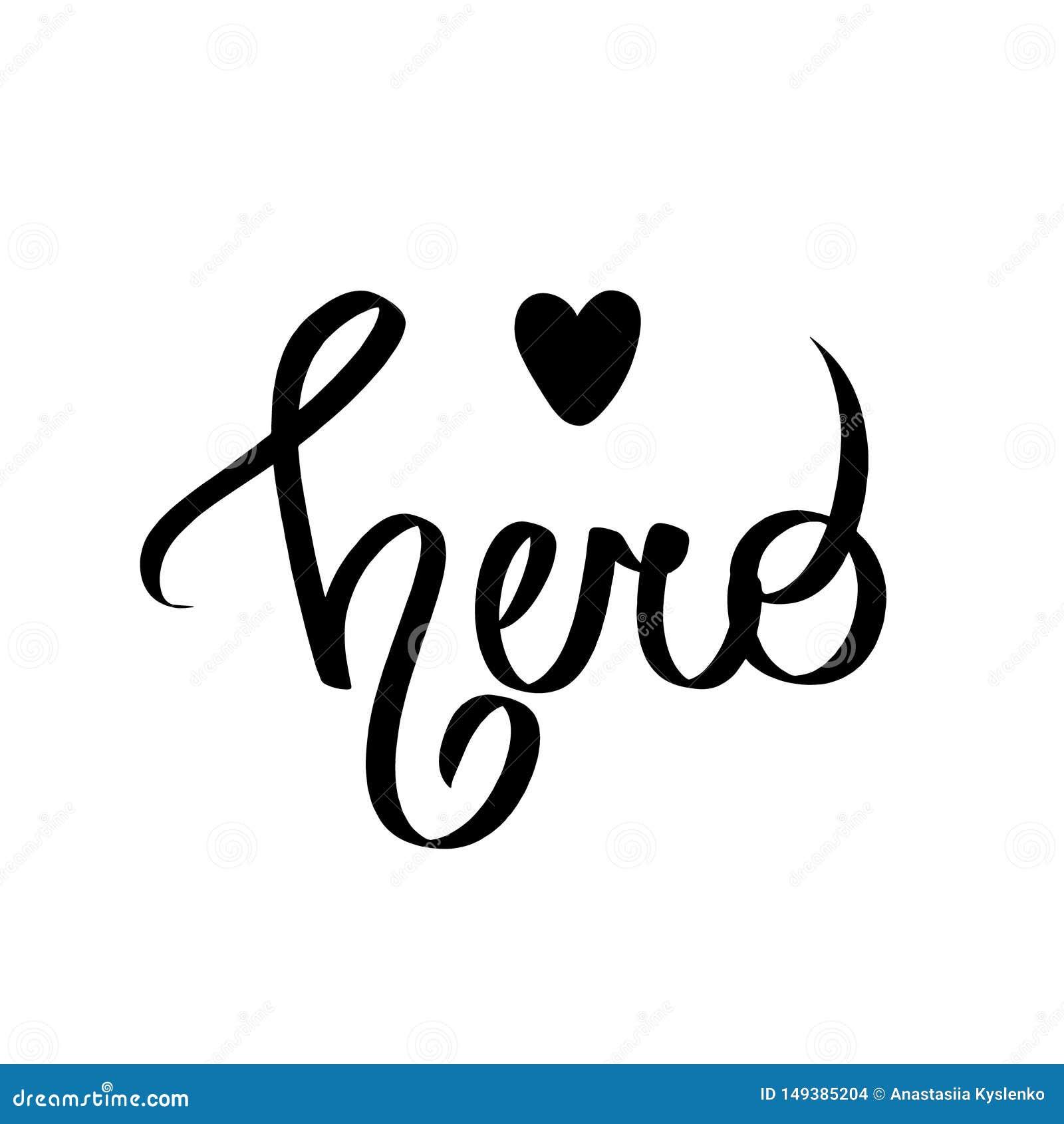 Superheld - nett, Spaßkinder, die mit schwarzem Herzen beschriften Vervollkommnen Sie für Babydrucke, Kindertagesstättenplakate,
