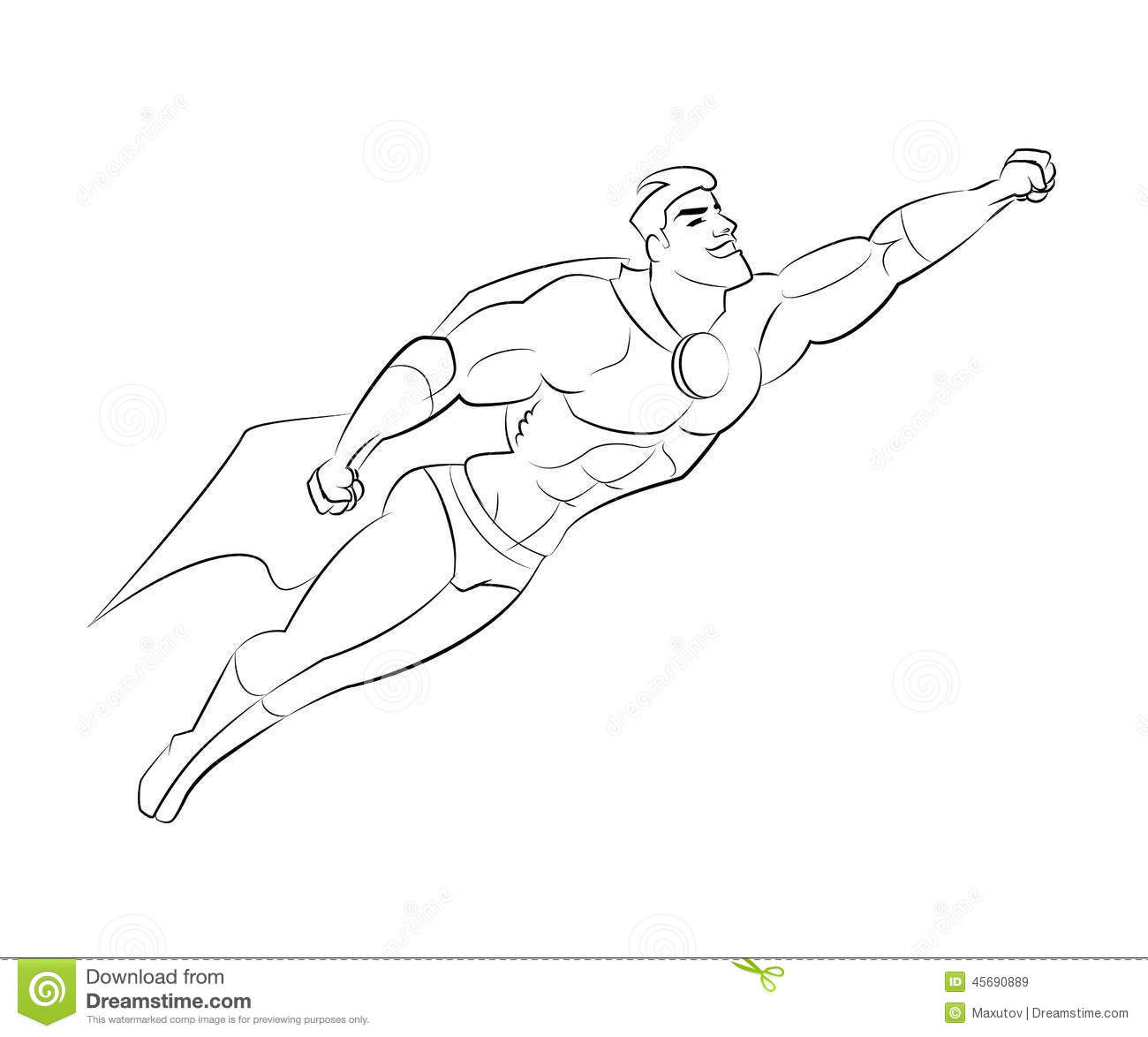 Gallery For gt Superhero Flying Drawing