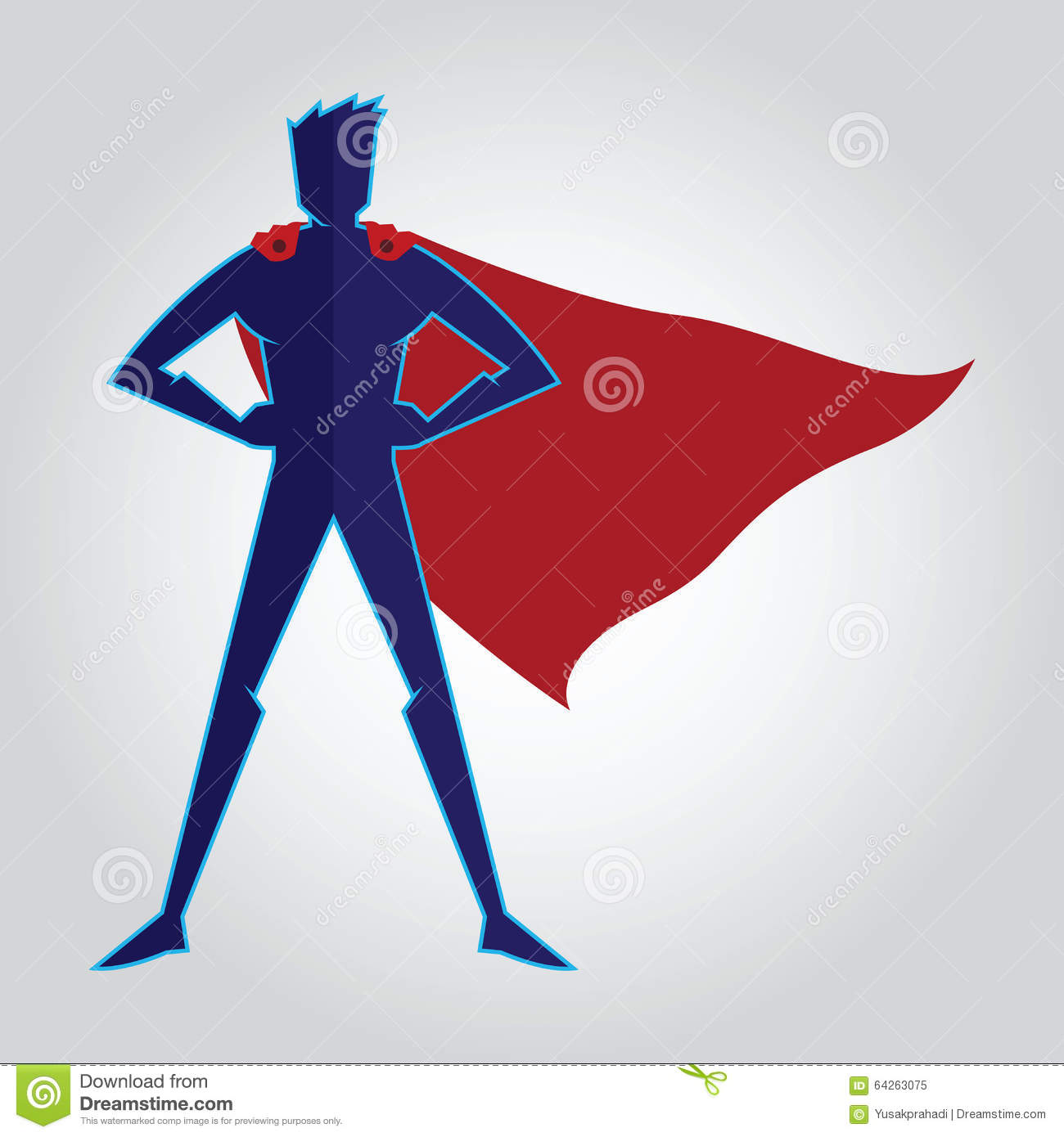 superhero with cape silhouette stock vector illustration of cape
