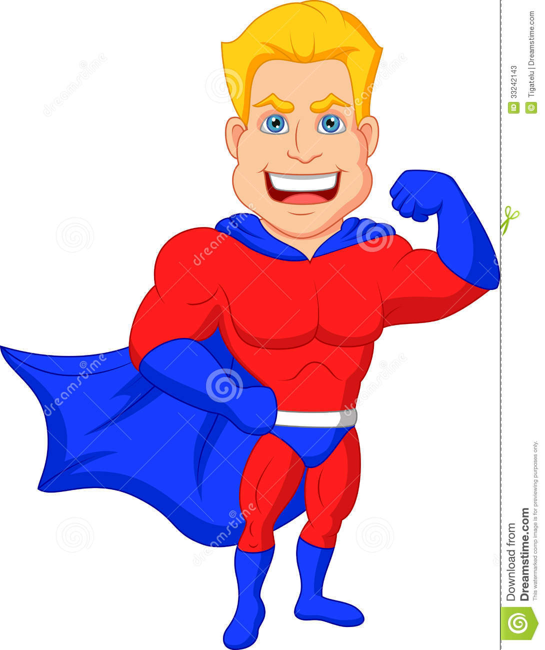 Superhero Cartoon Posing Stock Photos  Image: 33242143