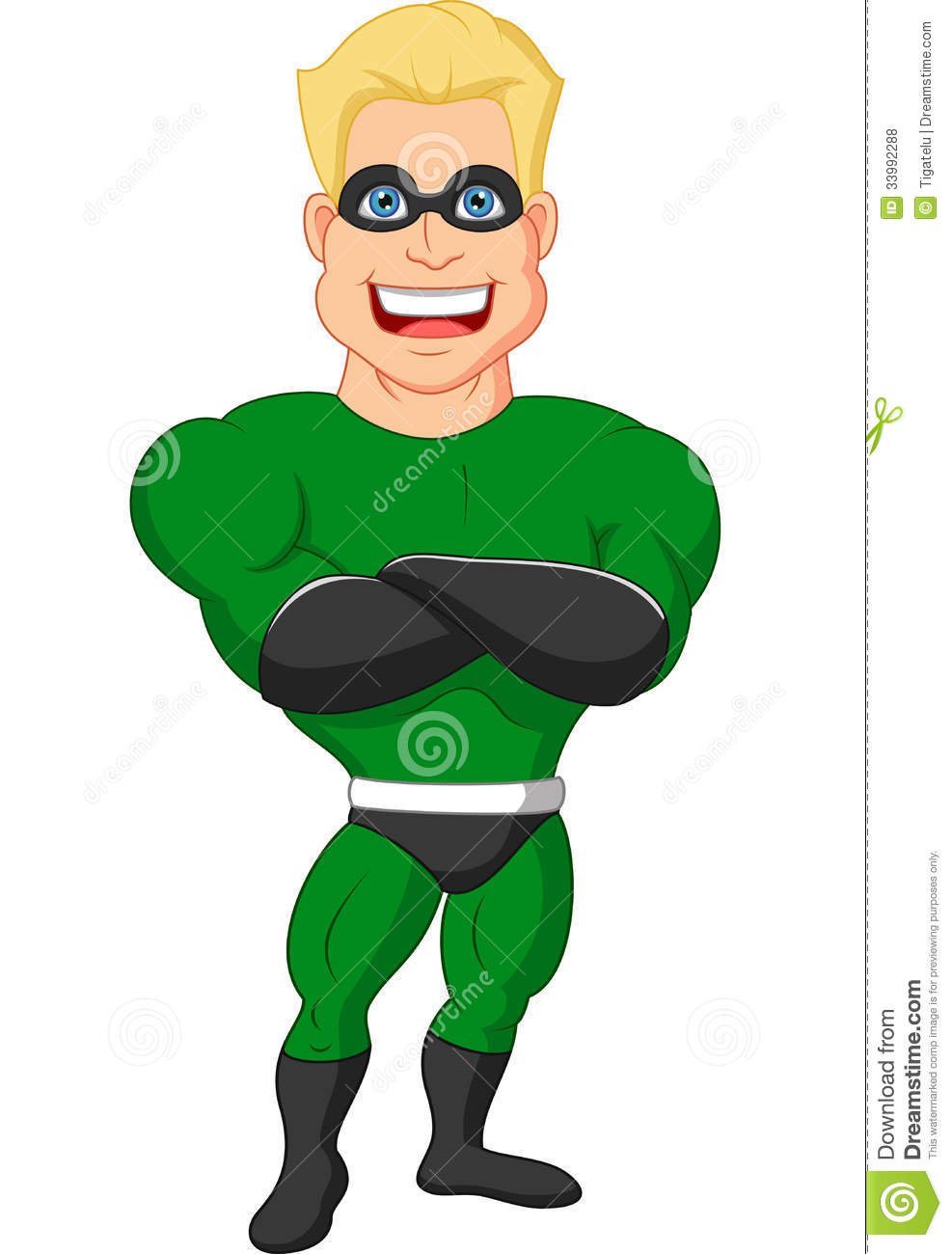 Superhero Cartoon Posing Royalty Free Stock Photos  Image: 33992288