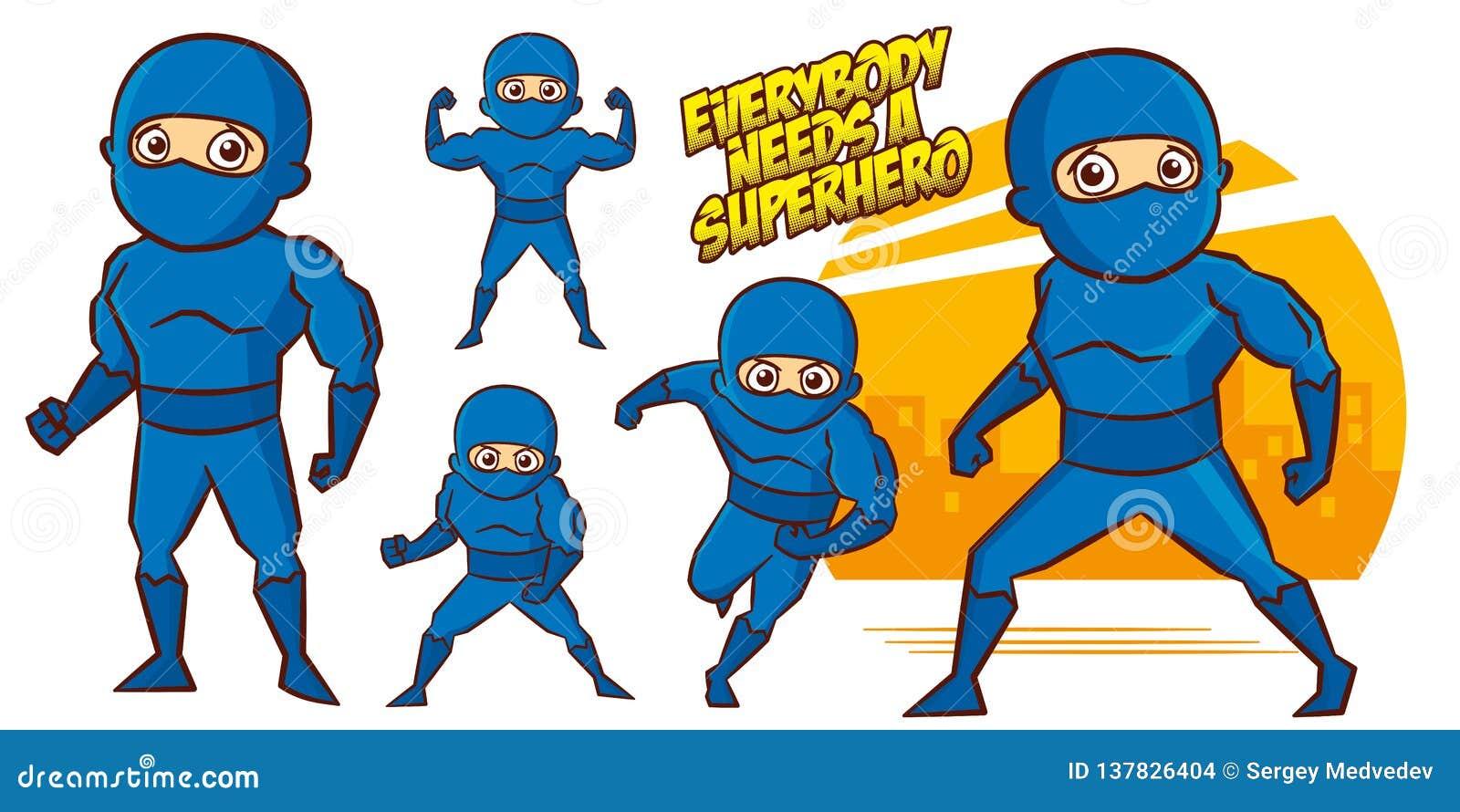 3b5c86c835435 Superhero Character Superheroes Set Vector Illustration Design Stock ...