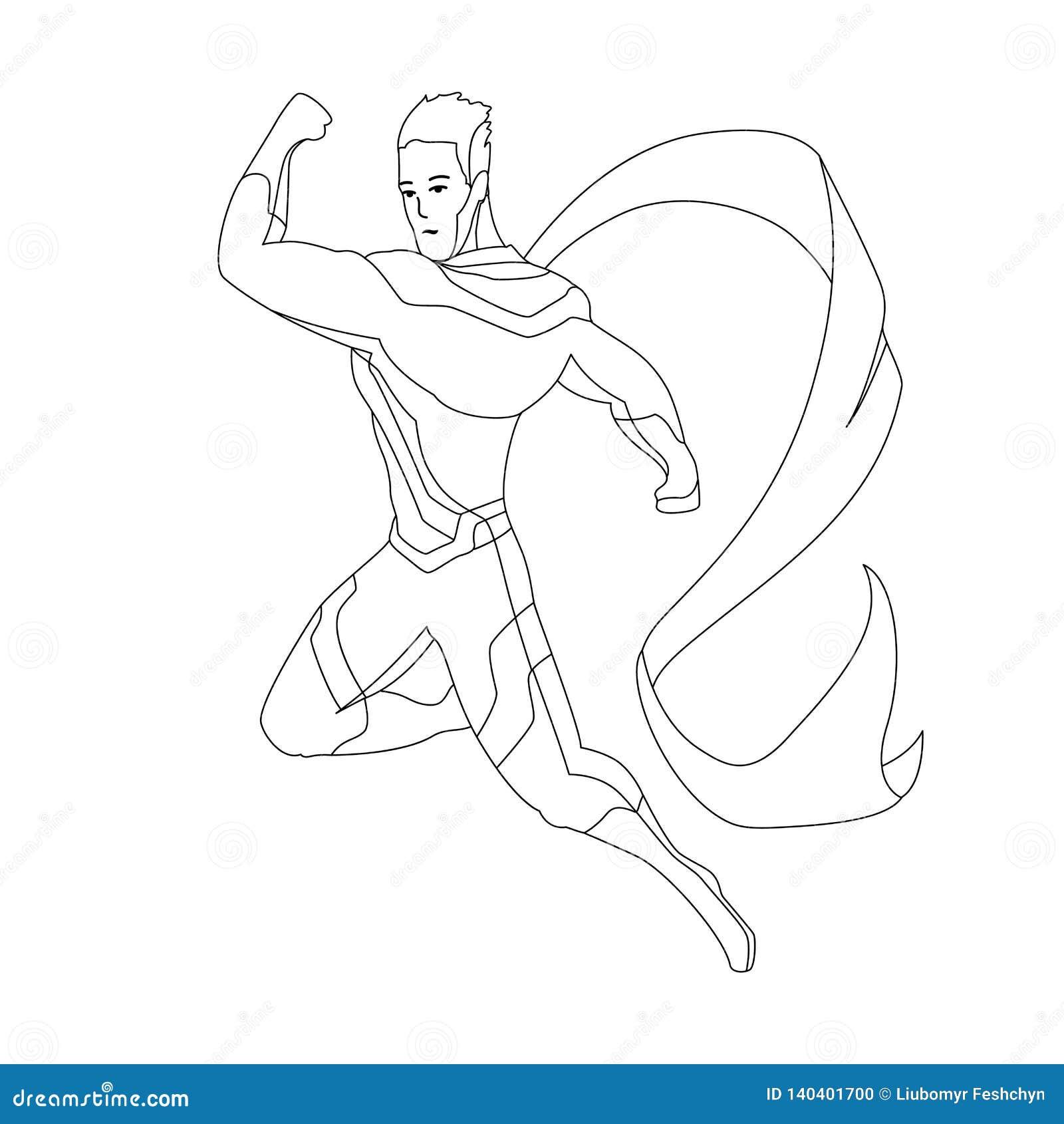 630+ Coloring Book Superhero Free