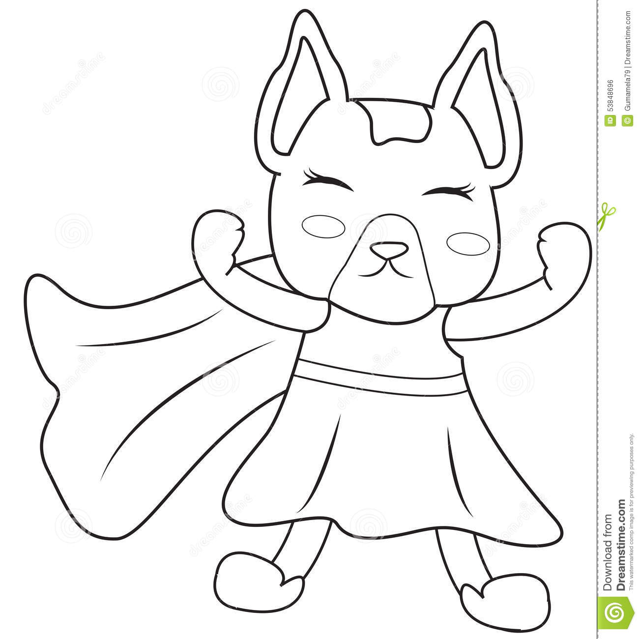 Coloring book pages superheroes - Superhero Dog Coloring Page