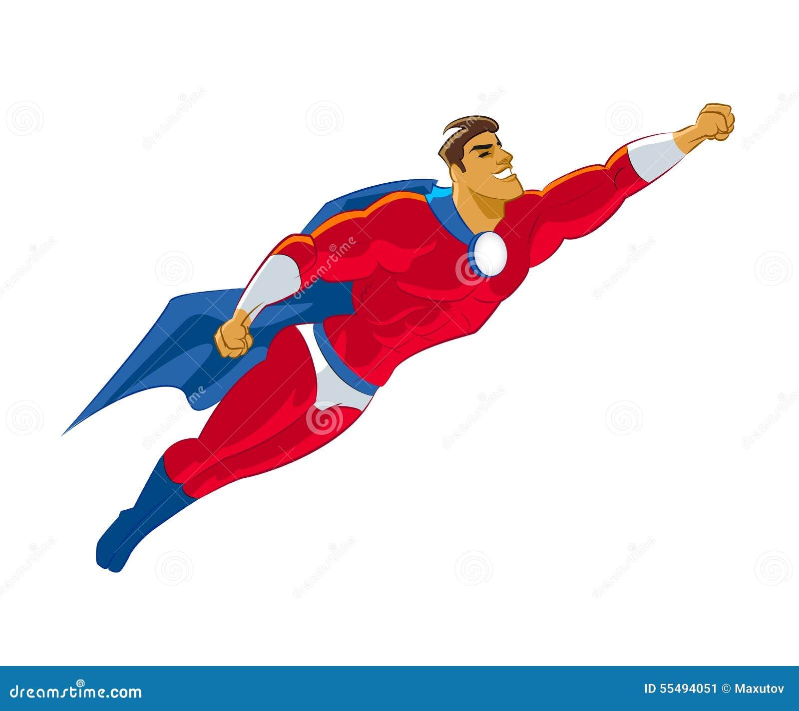 Blue cartoon superheroes
