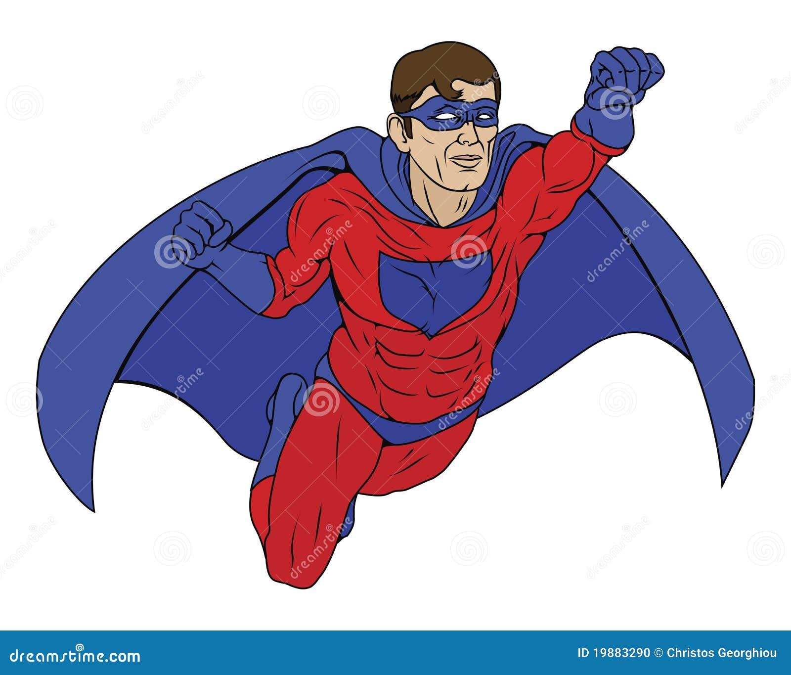 Superhero Illustration Superhero