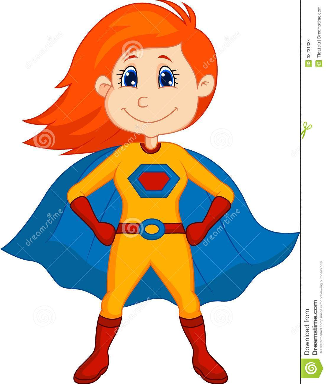 Superhero Kid Cartoon Royalty Free Stock Photos  Image: 33231338