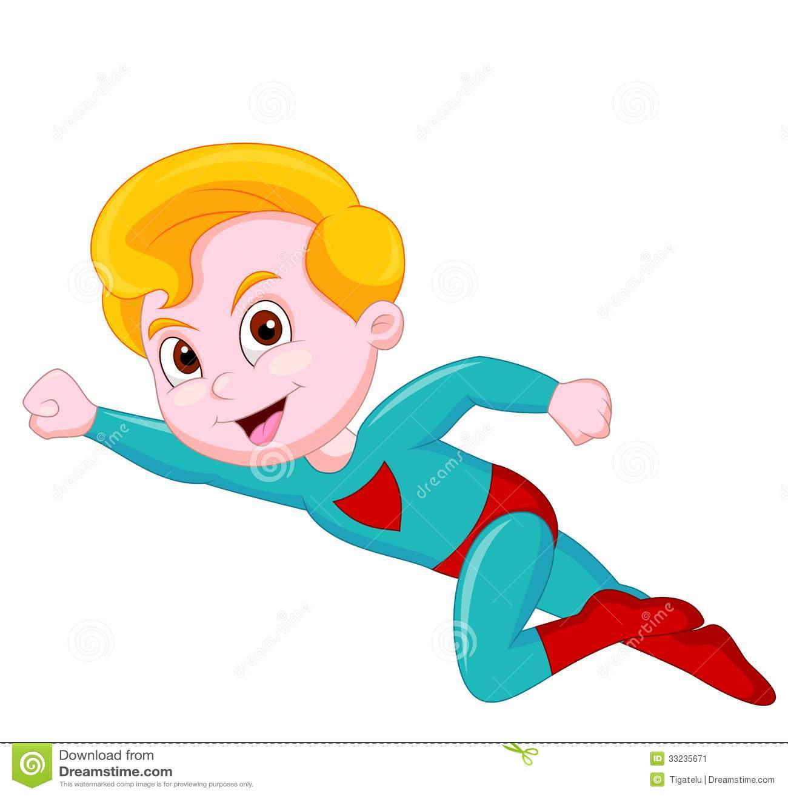 Superhero Kid Cartoon Stock Image - Image: 33235671 Superhero Flying Vector