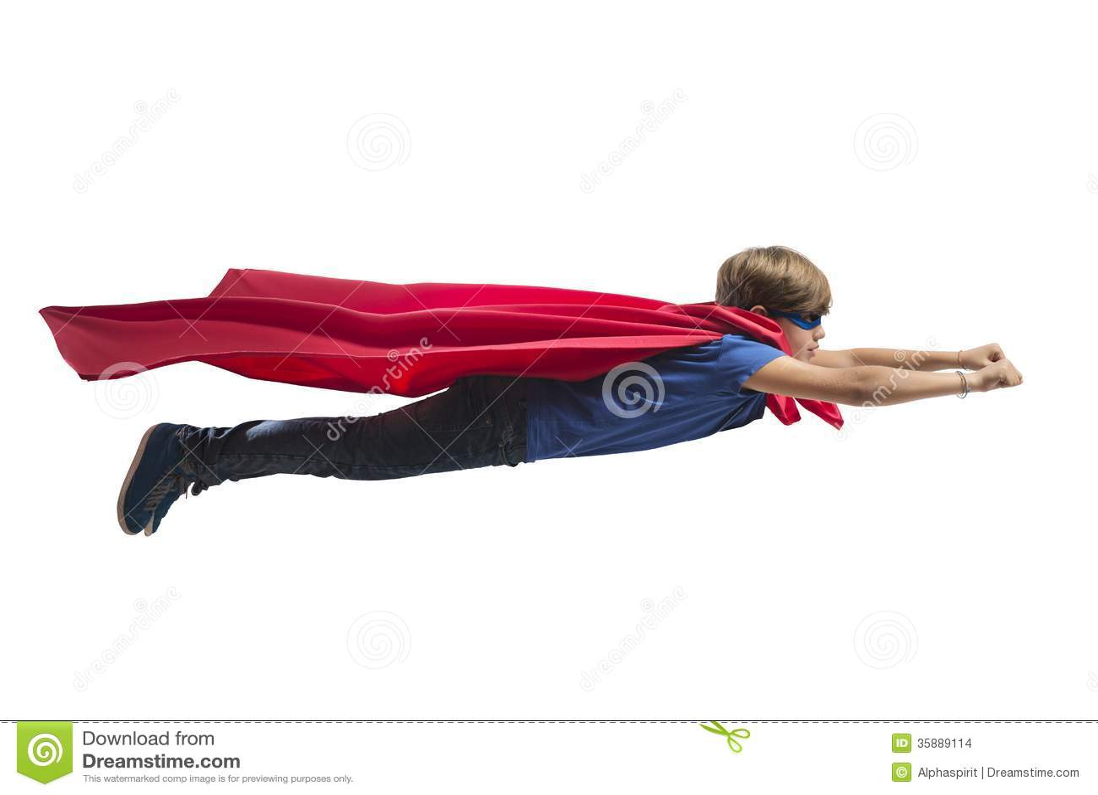 Superhero Kid Stock Images - Image: 35889114 Superhero Flying Vector