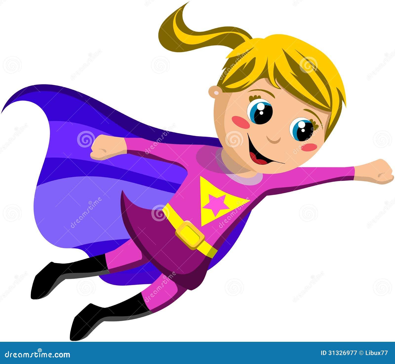 superhero kid flying stock vector illustration of happiness 31326977