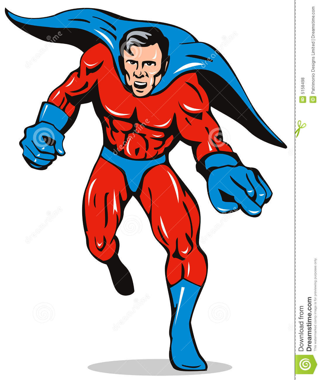 Superhero Running Royalty Free Stock Photos  Image: 5158498