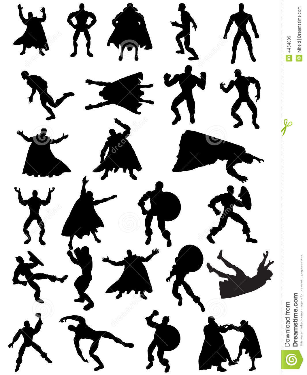 Superhero Silhouettes Royalty Free Stock Images - Image: 4454889