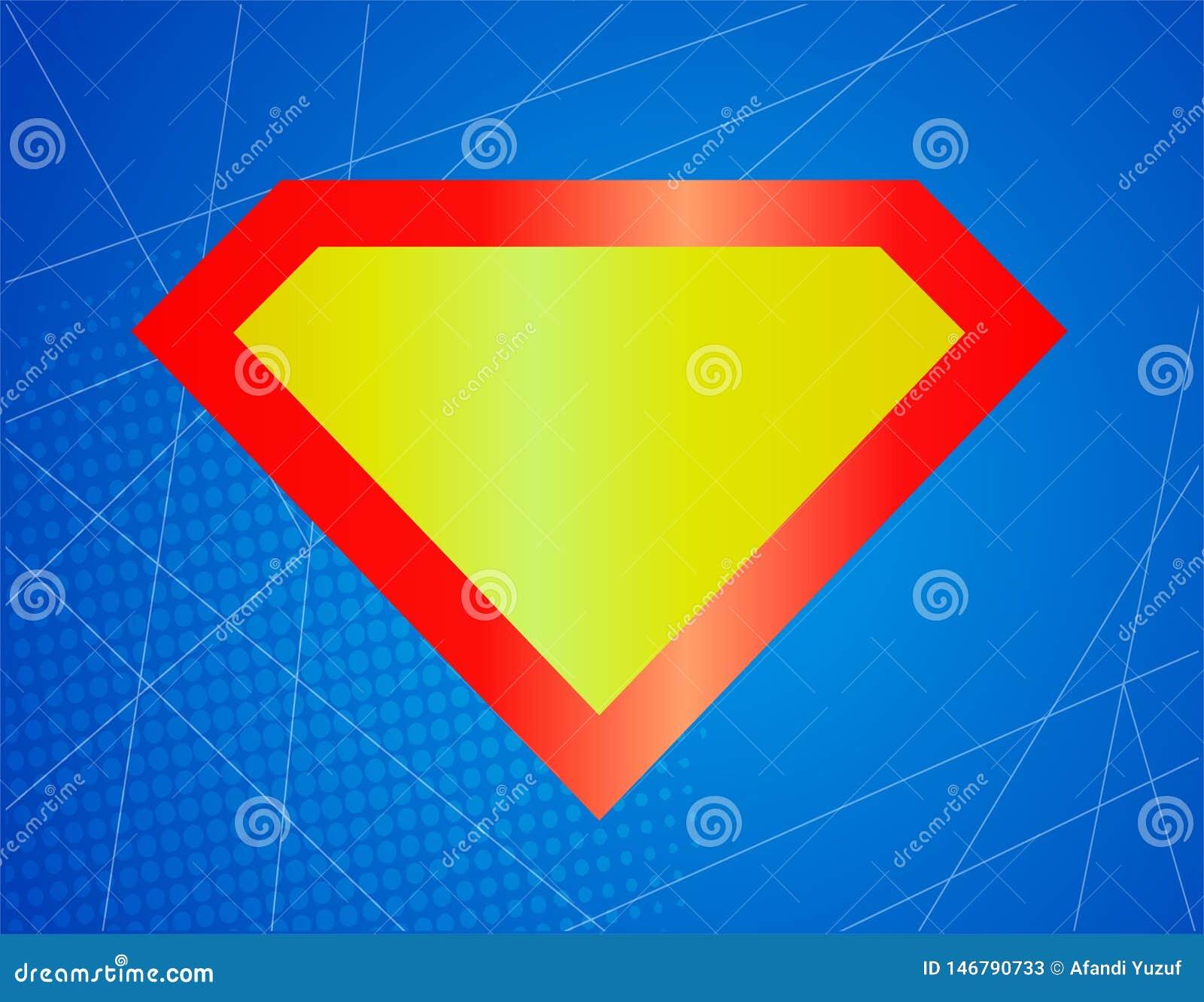 Superhero sterk beroemd glanzend pictogram, symbool, element, teken Schild, embleemsuperman