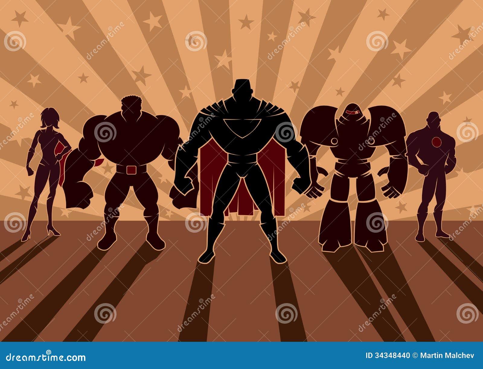 Superhero Team Stock Photo Image 34348440