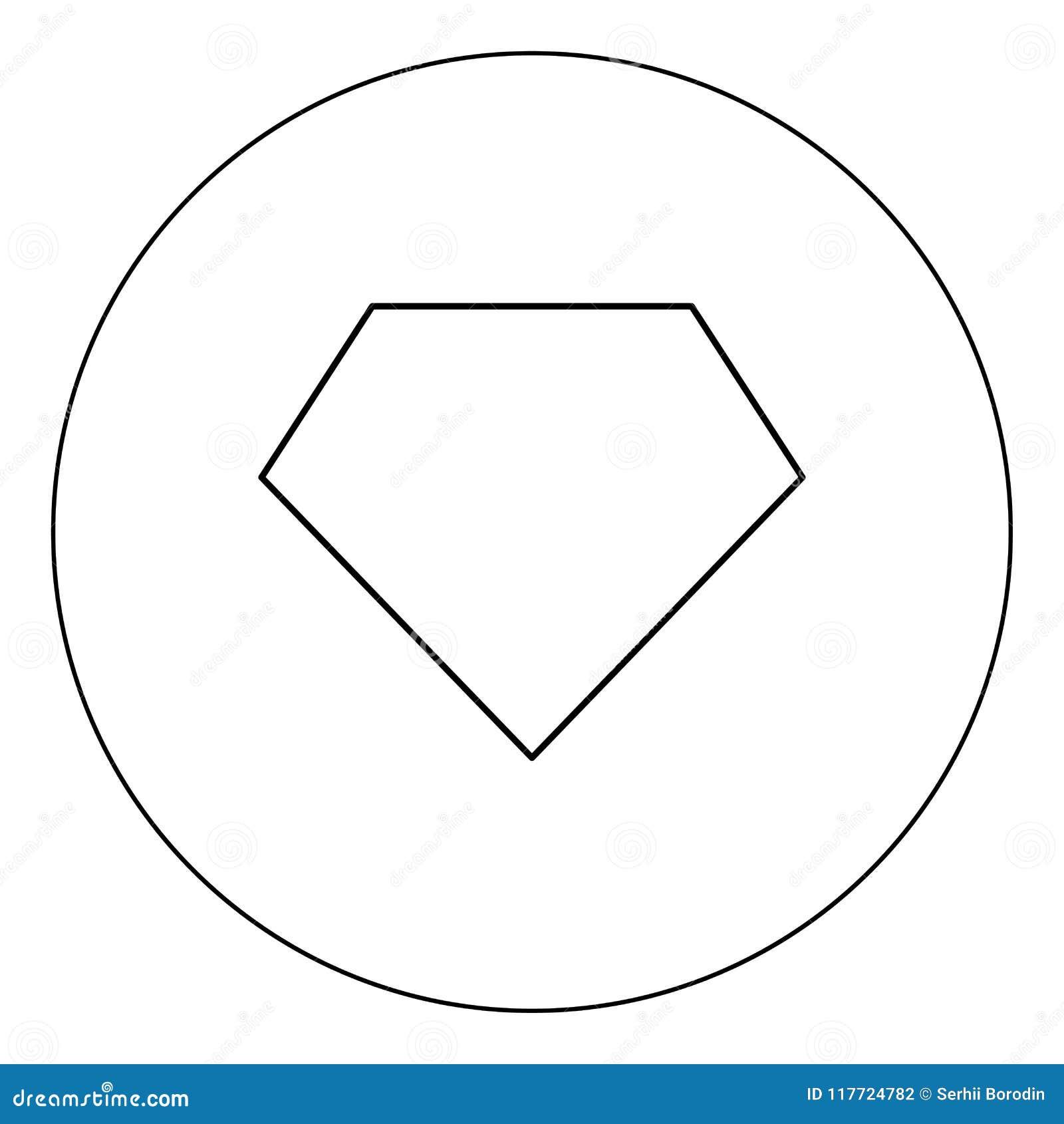 superhero template icon black color in circle stock vector