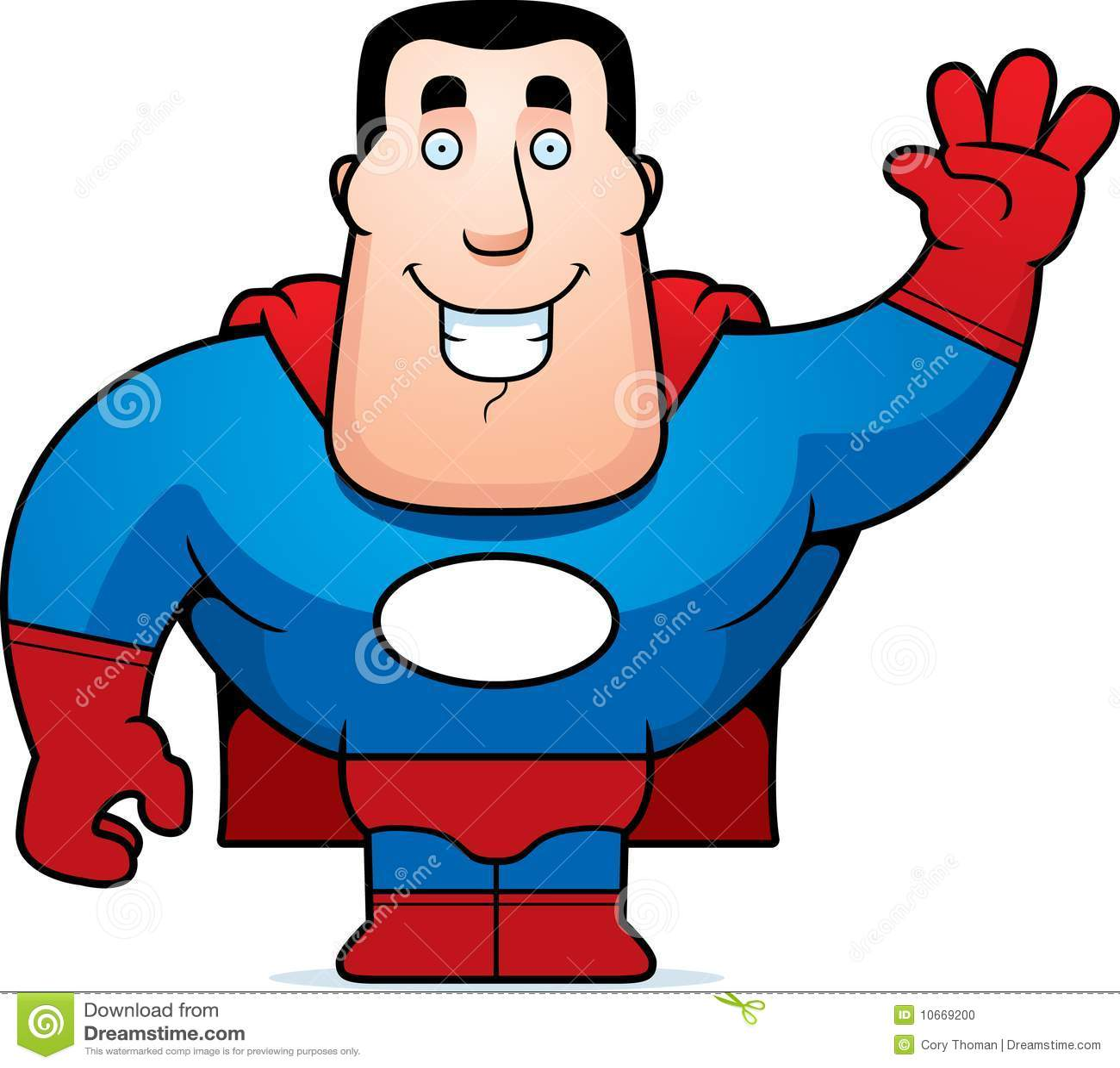 Superhero Waving Stock Photo Superhero