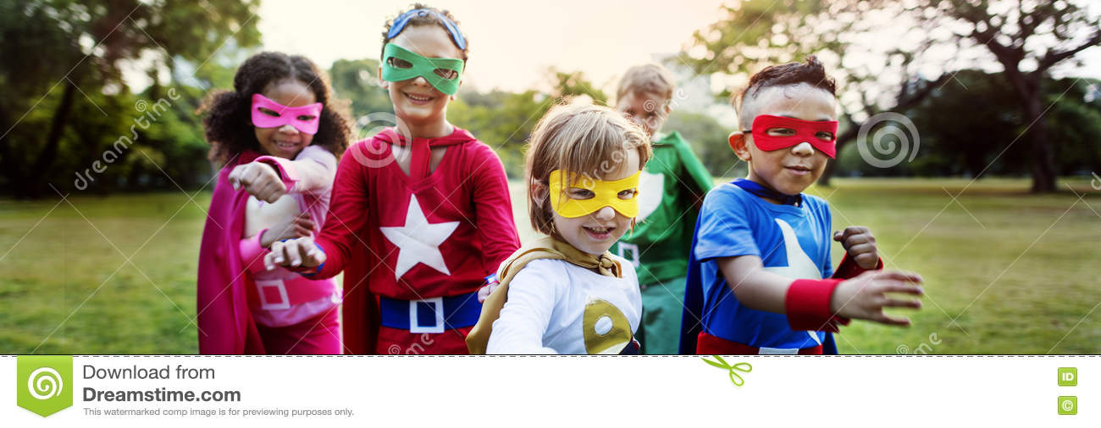 Superheroen lurar skämtsamt roligt begrepp för ambitionfantasi