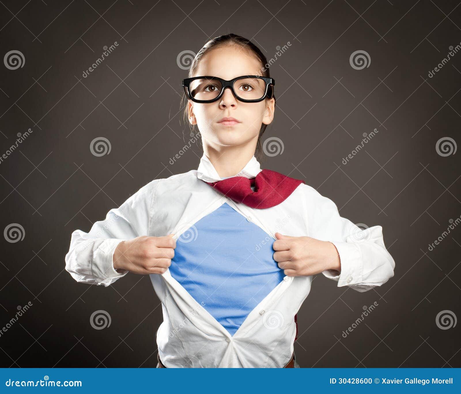 Superheroliten flicka
