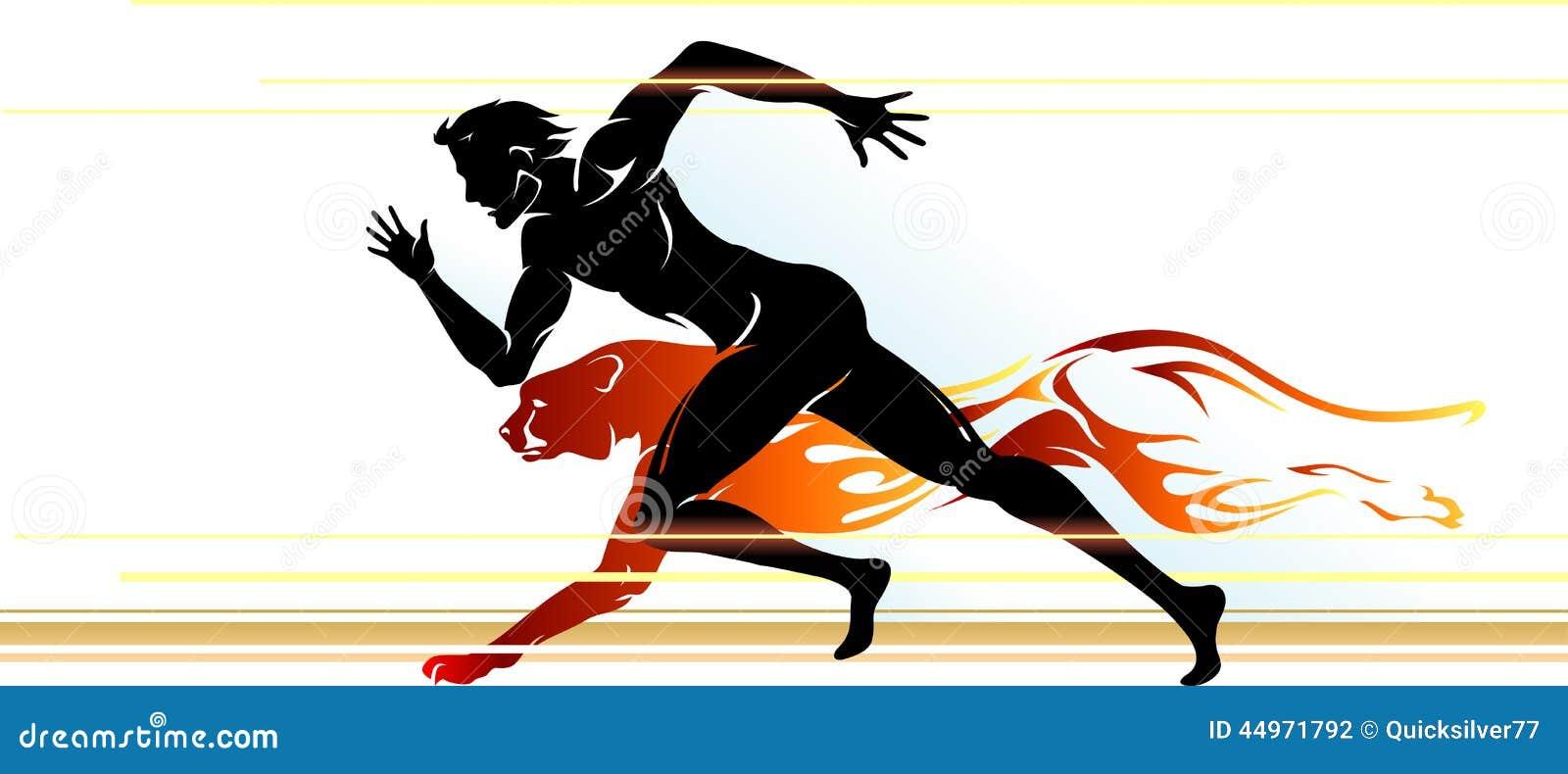 superhuman speed runner stock illustration image of action 44971792 Cheetah Paw Print Clip Art Cheetah Print Background