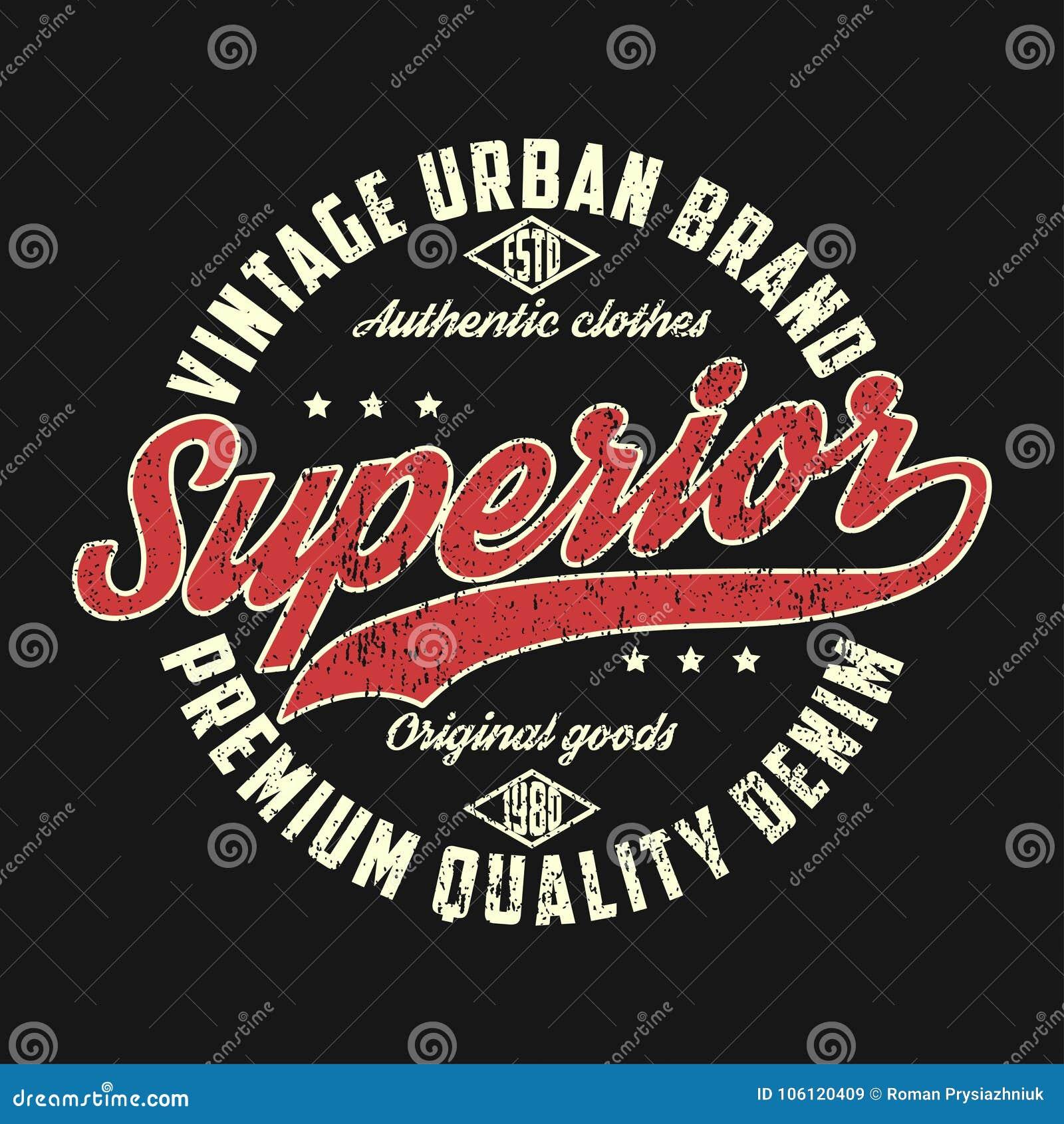 Superieur denim, uitstekend stedelijk merk grafisch voor t-shirt