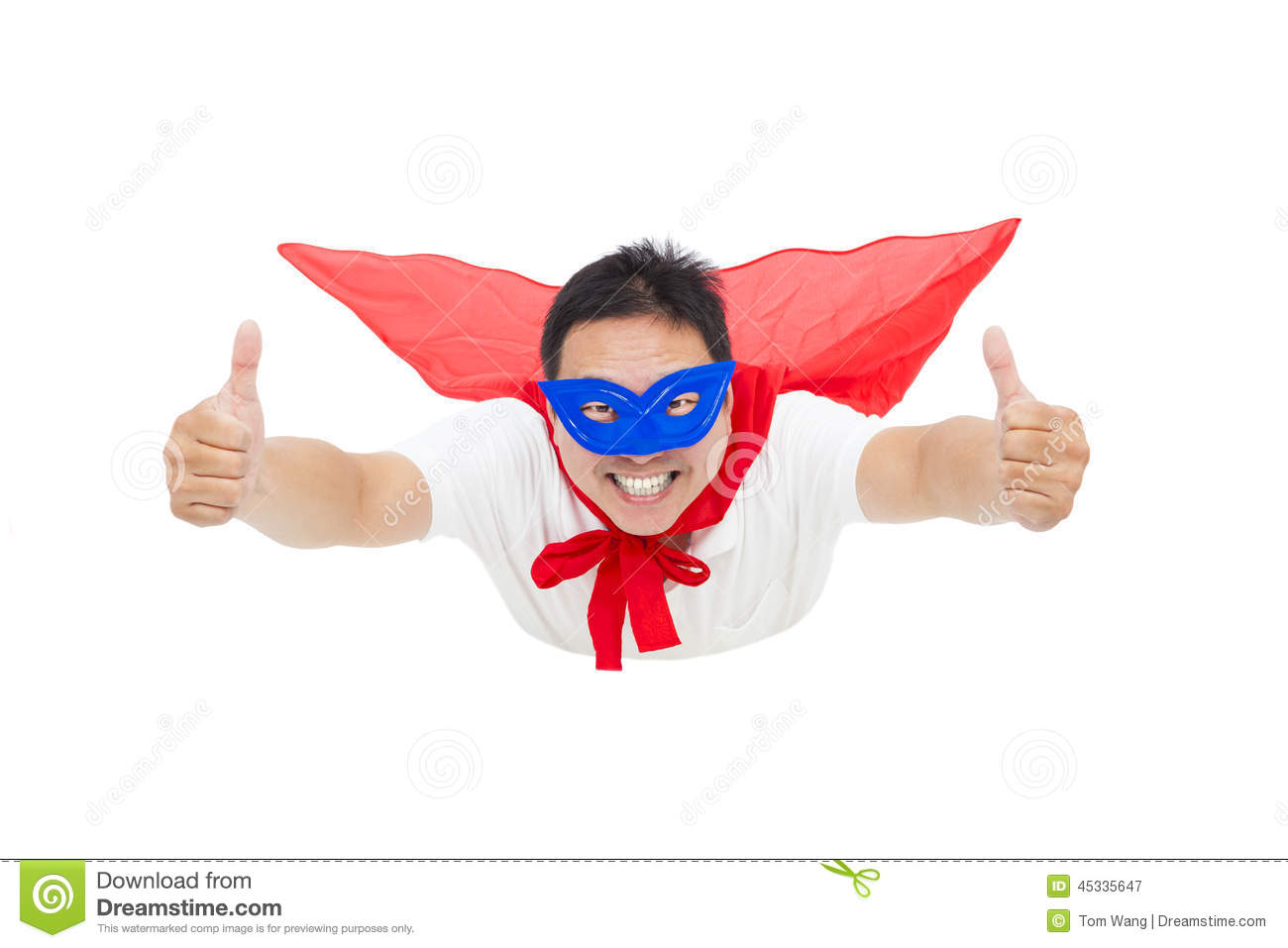 Superman flying and thumb up with red cape stock image image of royalty free stock photo voltagebd Image collections