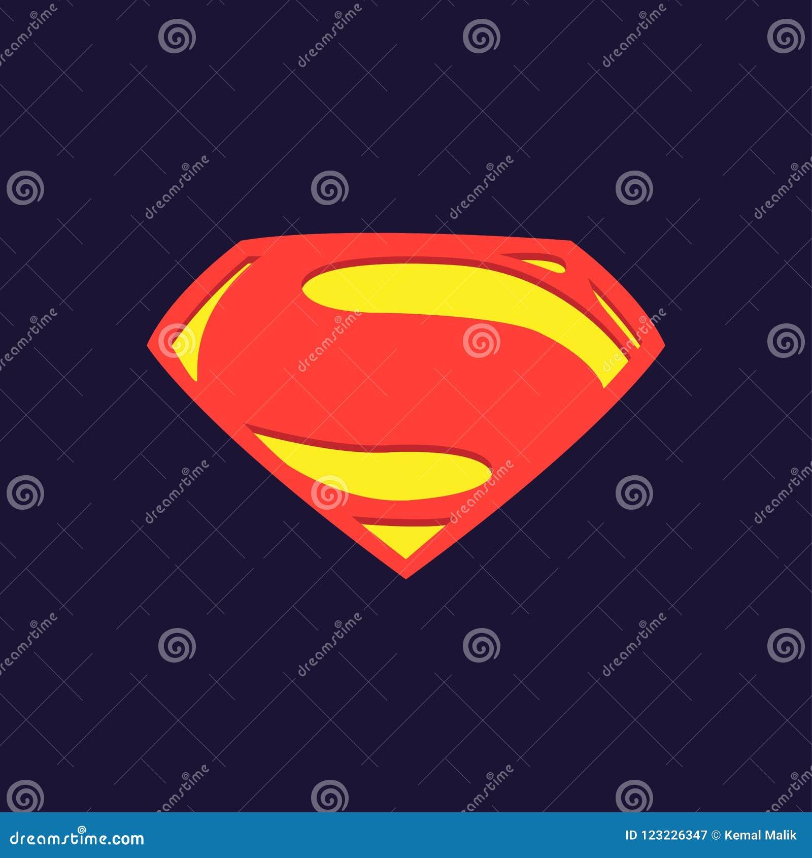 DC Superheroes Superman Man of steel Logo Wallpaper Illustration