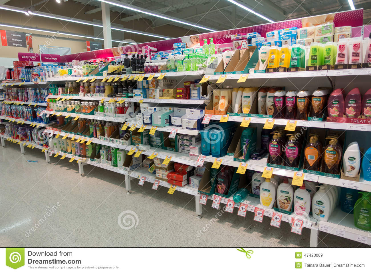 Supermarket Aisle Editorial Stock Image Image Of Large