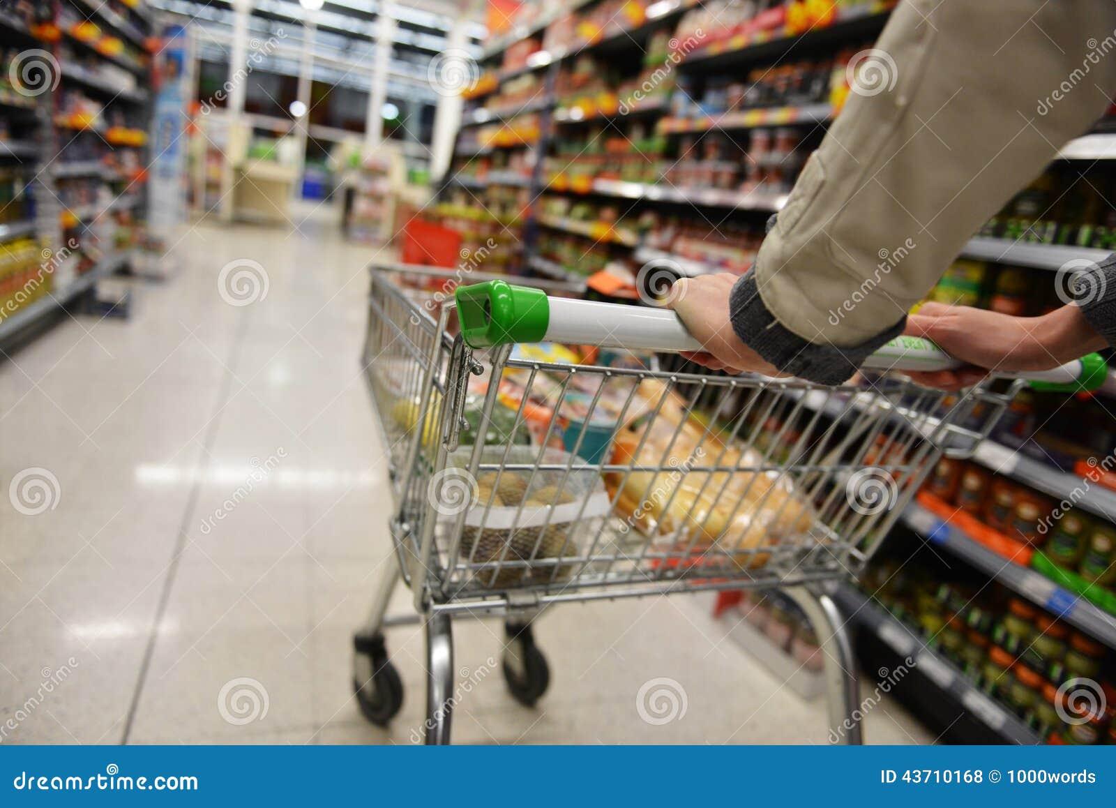 Supermarket Aisle View Stock Photo Image 43710168
