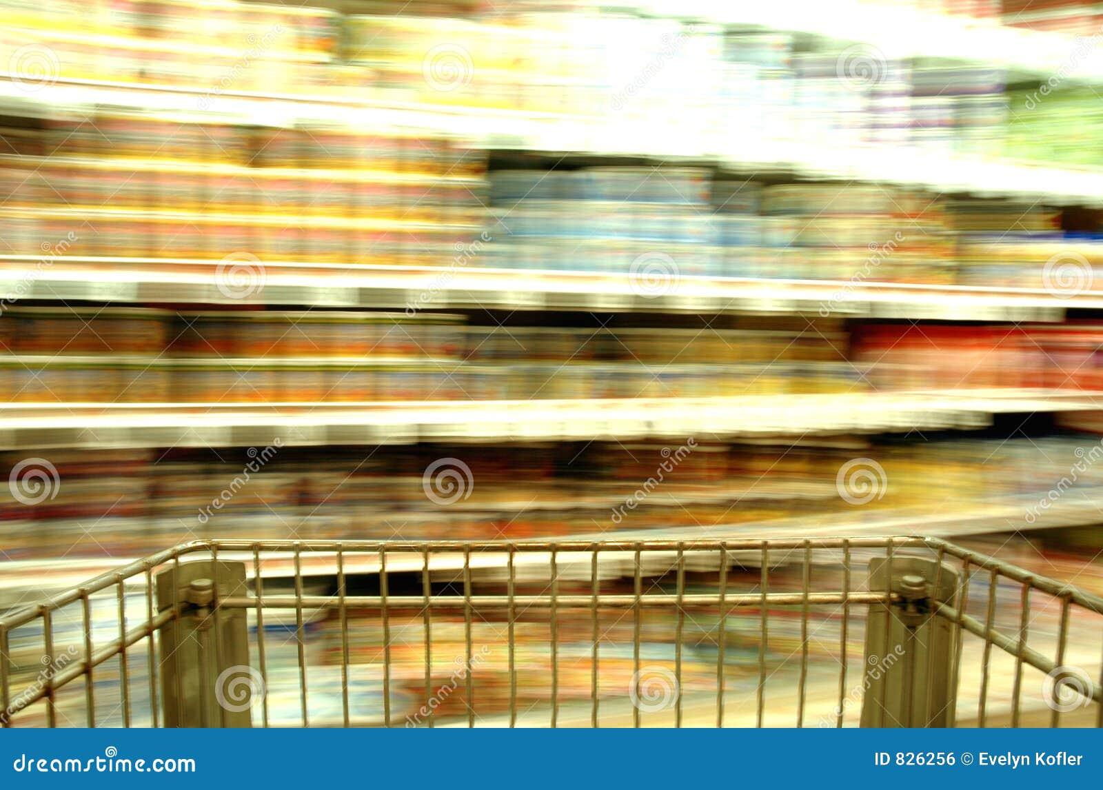 Supermarket Blur Cans