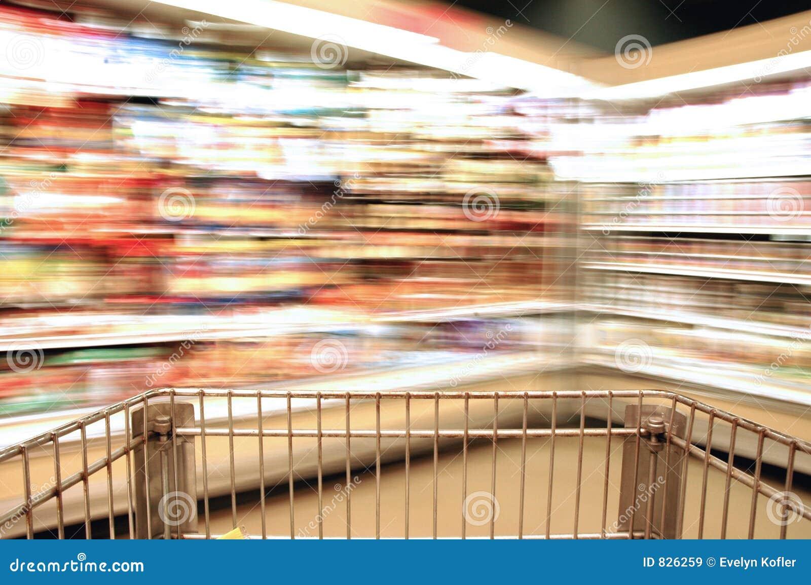Supermarket Blur Dairy