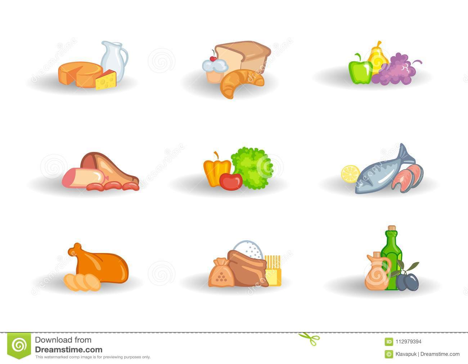 Supermarket food sets