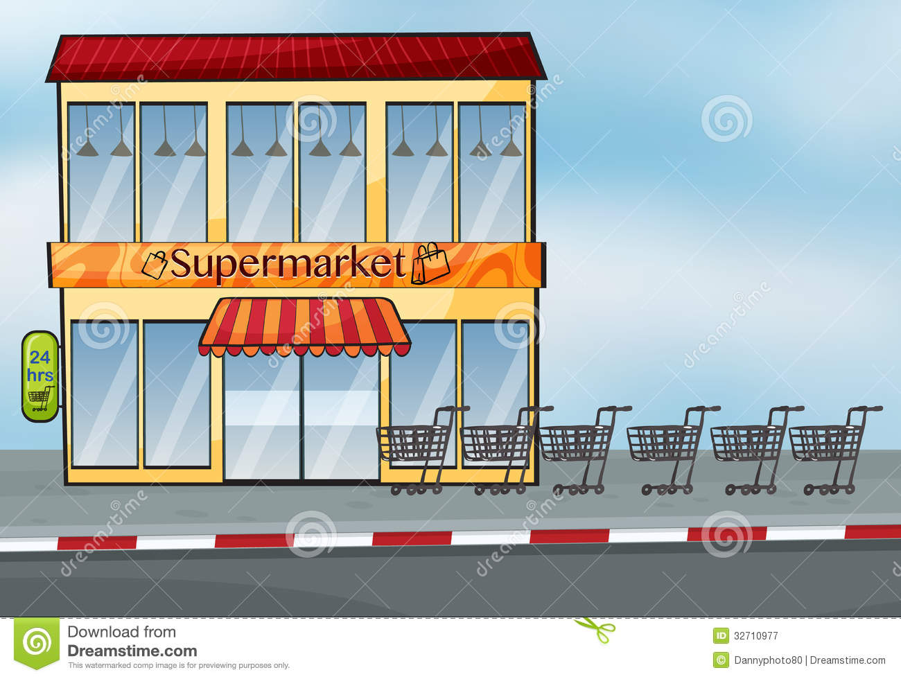 supermarket building cartoon images frompo