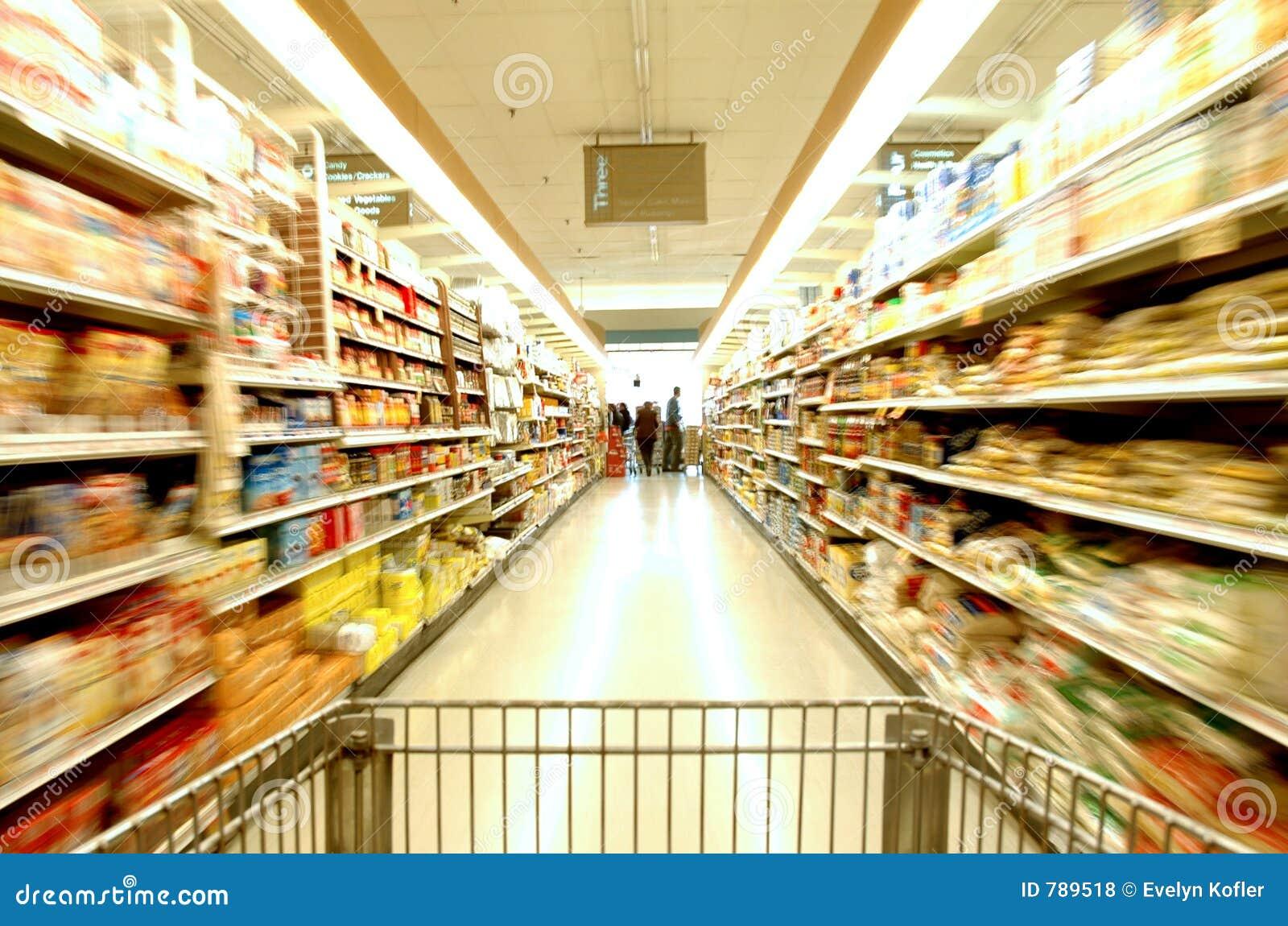 Supermarket ruchu